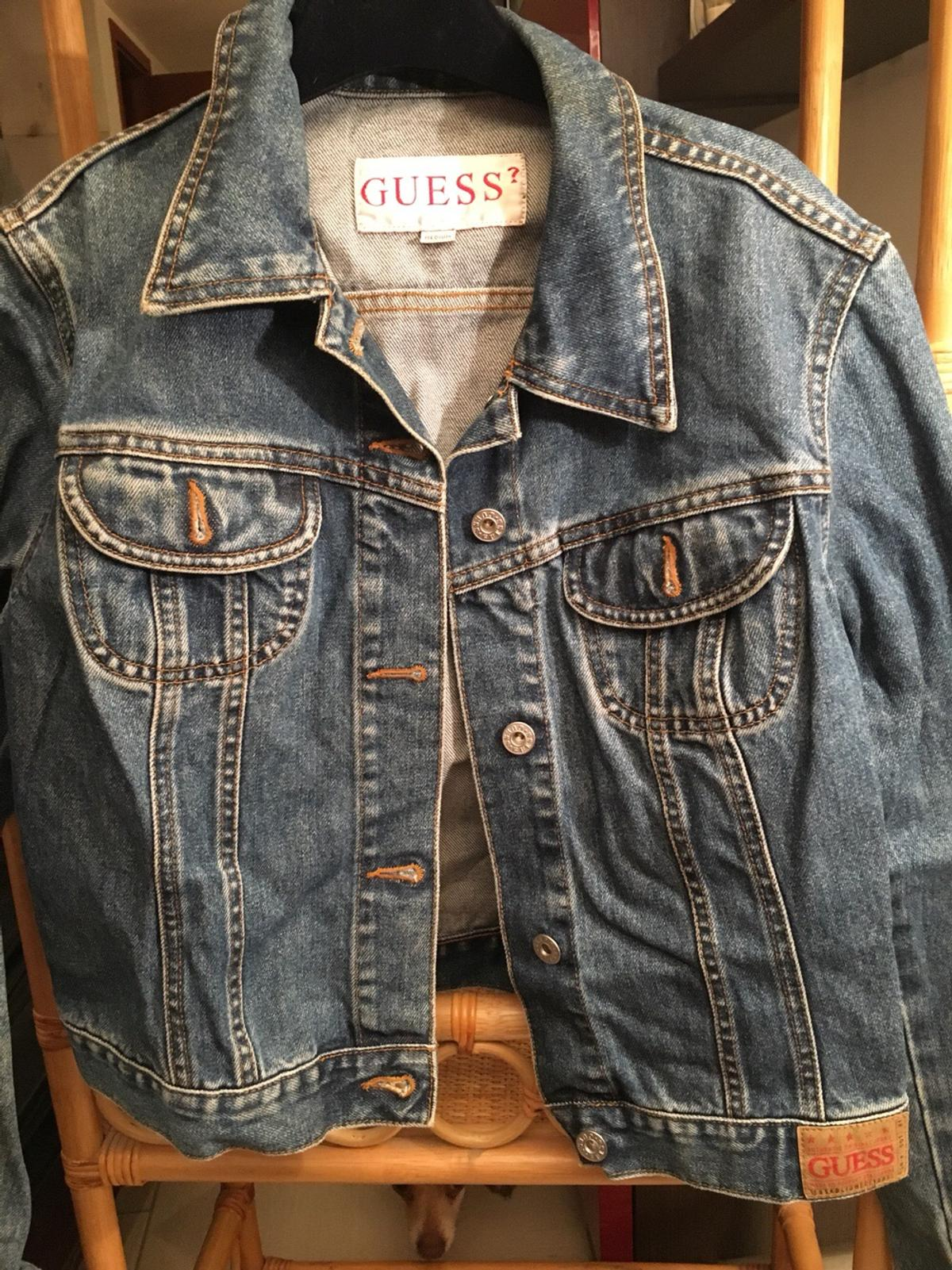check out 5aa56 d327f Giacchetto di jeans guess