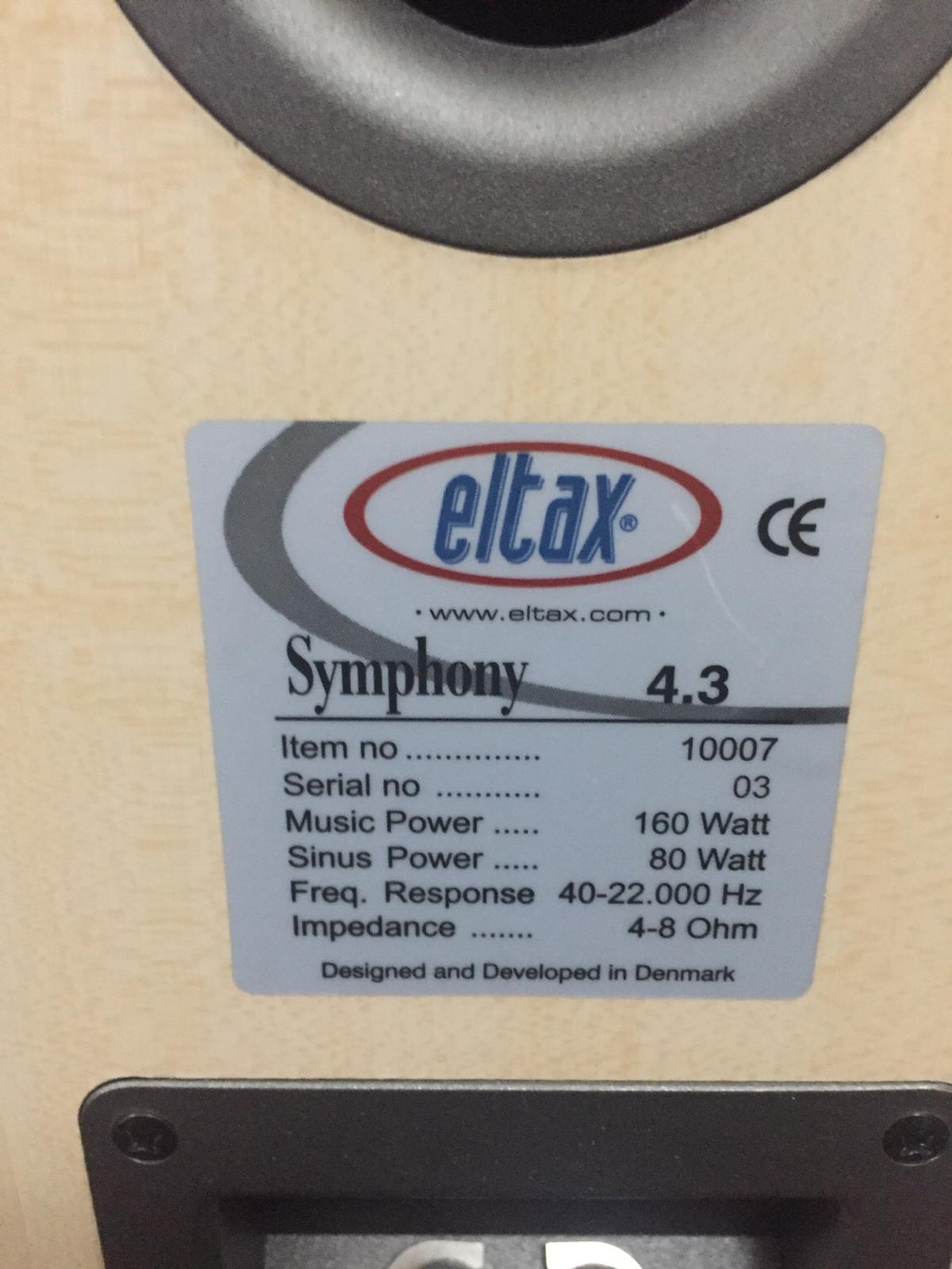 Eltax Symphony 4 3 Bi-wire speakers in LE3 Glenfield for