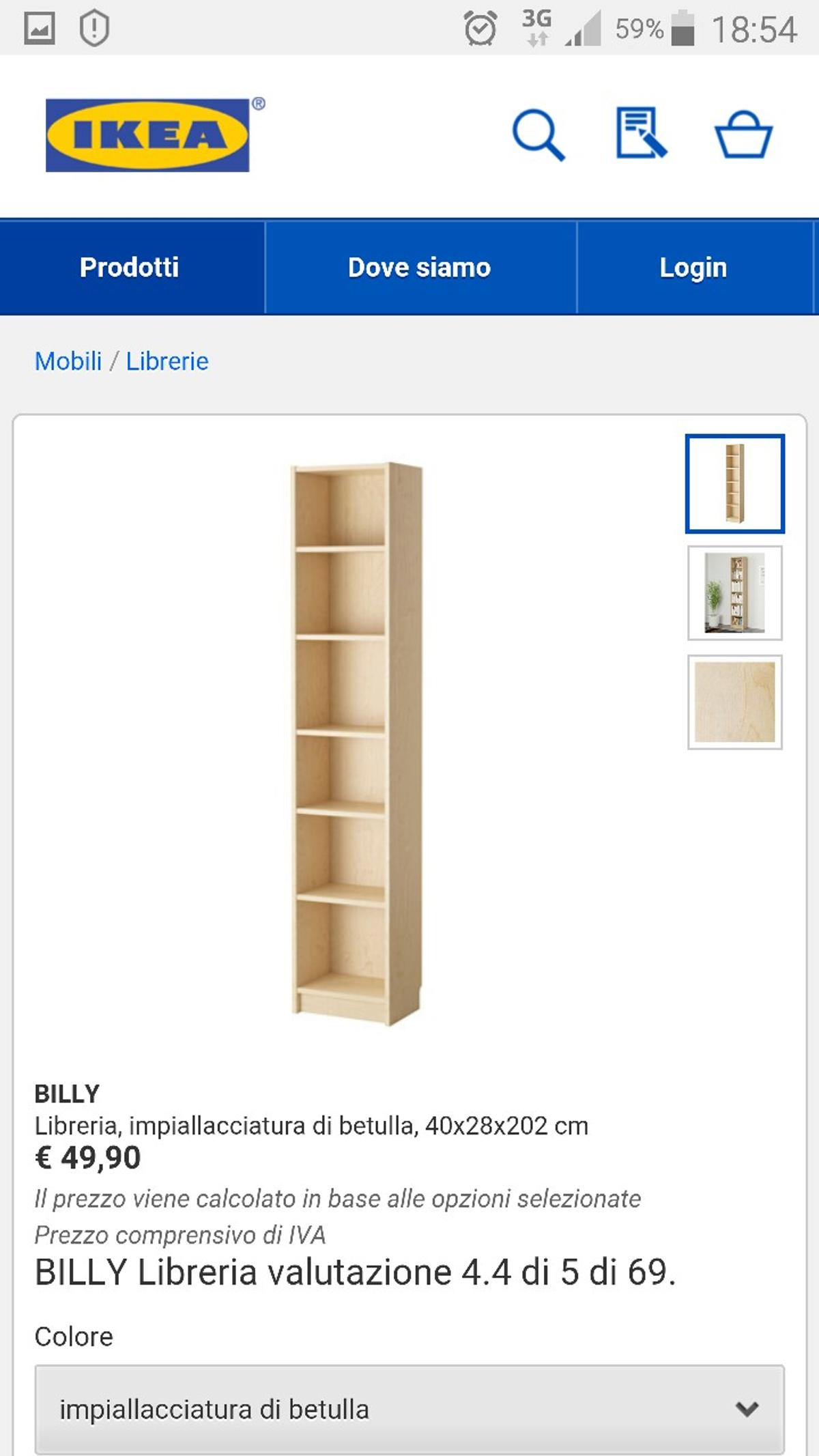 Libreria Ikea Billy In 41125 Modena For 30 00 For Sale Shpock