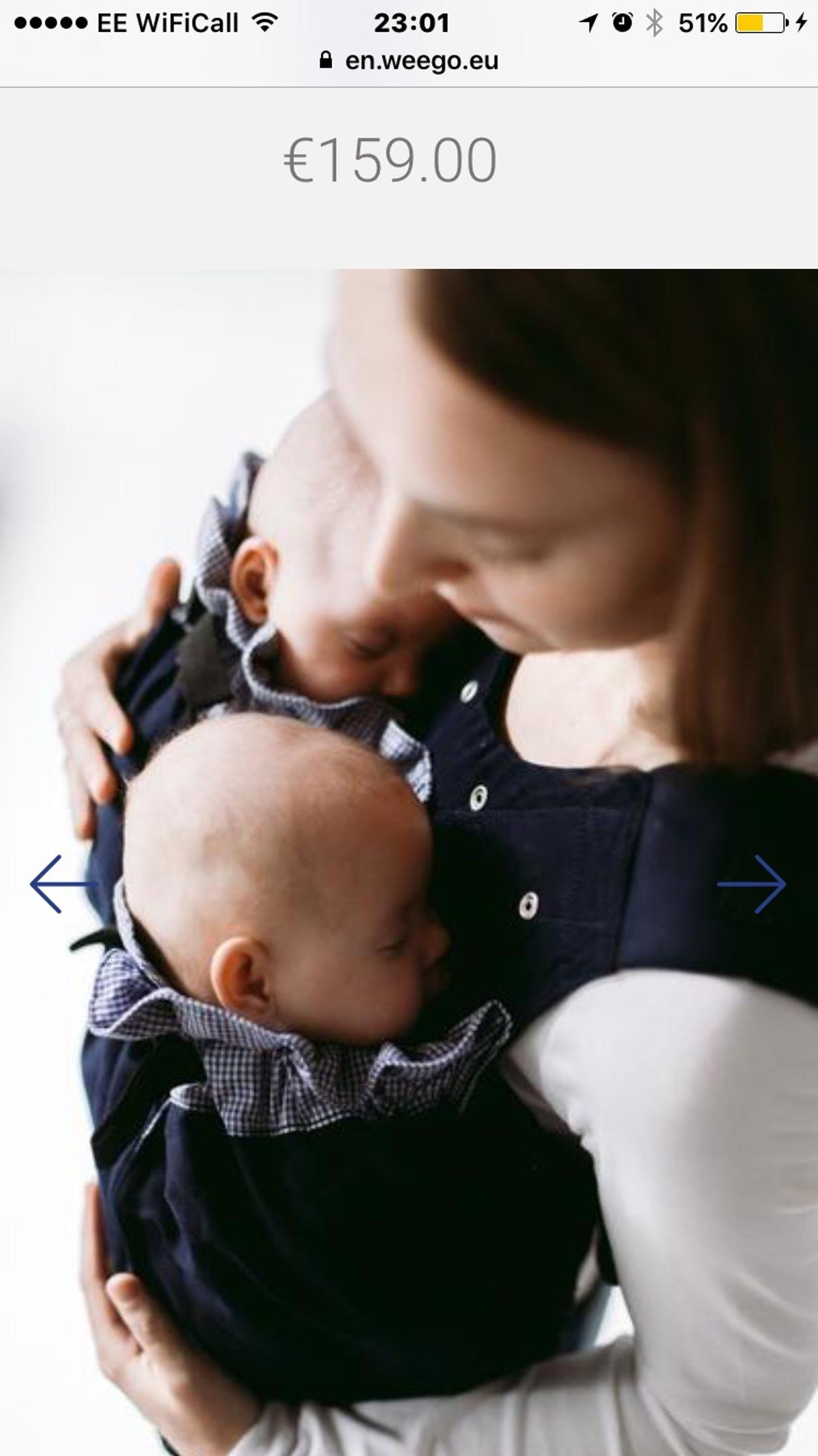 c7b78998ce3 Weego twin baby carrier in SM3 Sutton for £80.00 for sale - Shpock