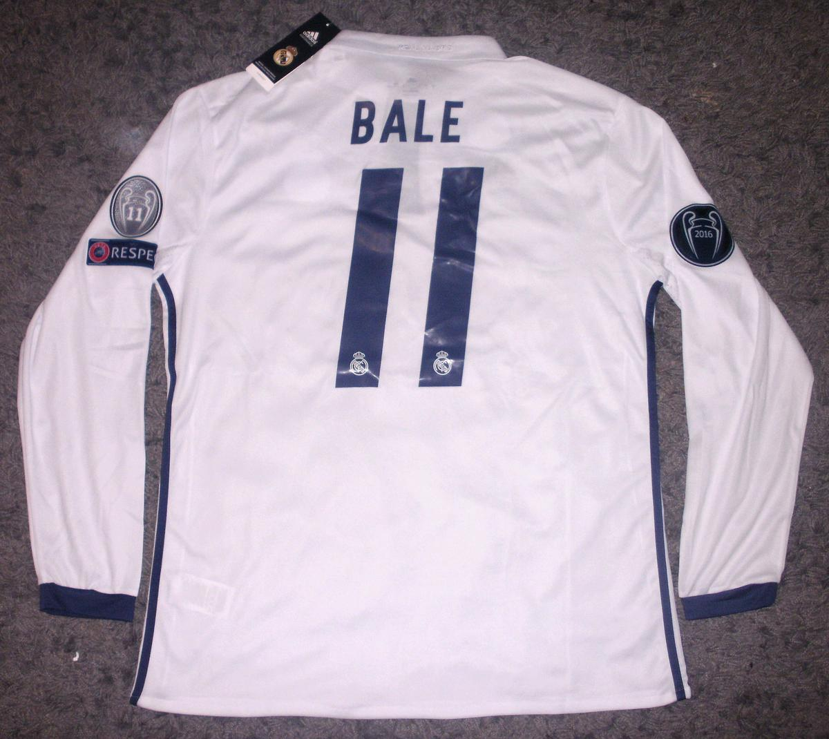 reputable site 04f3a b4192 Real Madrid Long Sleeve BALE Football Shirt in DY5 Dudley ...