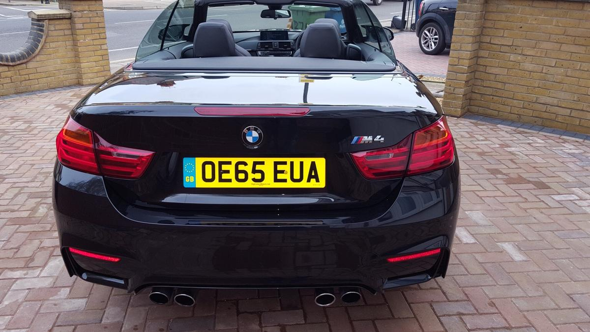 BMW M4 convertible F83 manual black sapphire in W4 London for