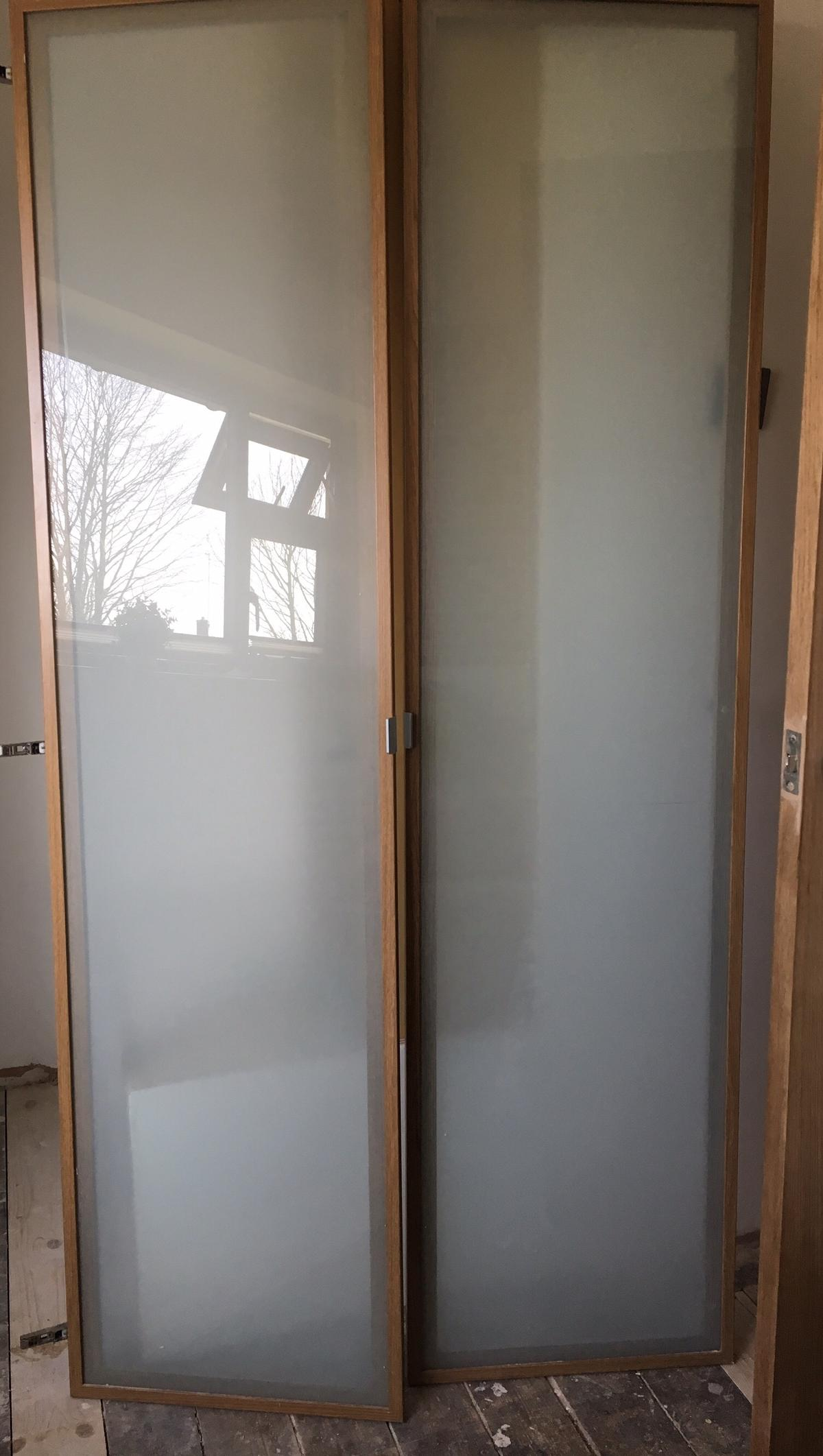 official photos 02e9a e49f3 IKEA PAX FEVIK DOORS tempered glass