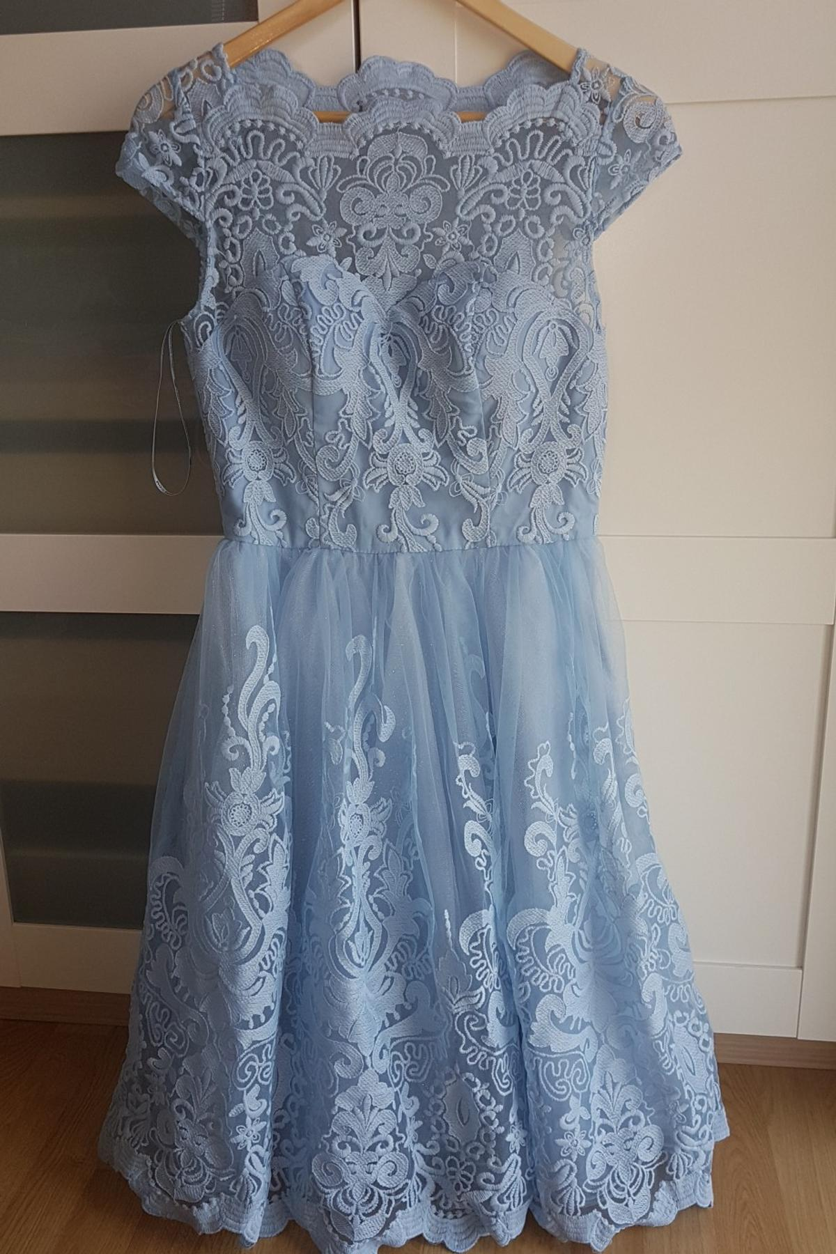 chi chi london midi kleid 34 hellblau