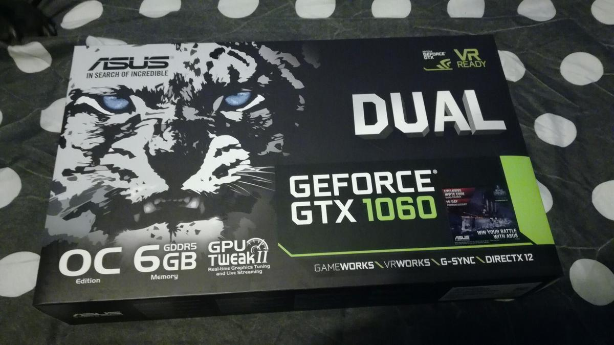 ASUS DUAL GTX 1060 6GB OC (relisted) in BA21 Yeovil for £200 00 for