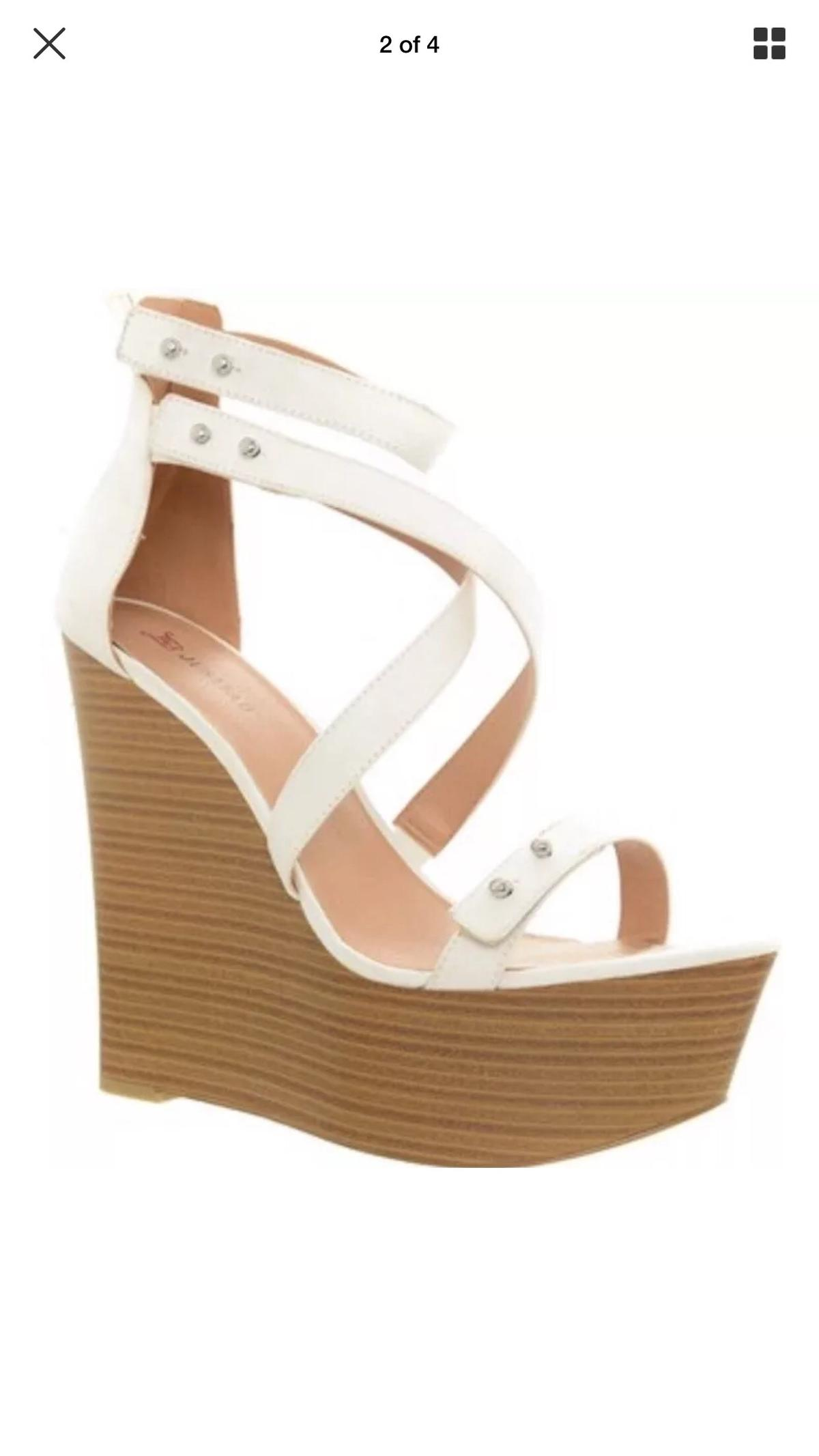 11a22d3922 JUSTFAB Clarysa platform White Sandals SIZE 8 in DG12 Annan for ...