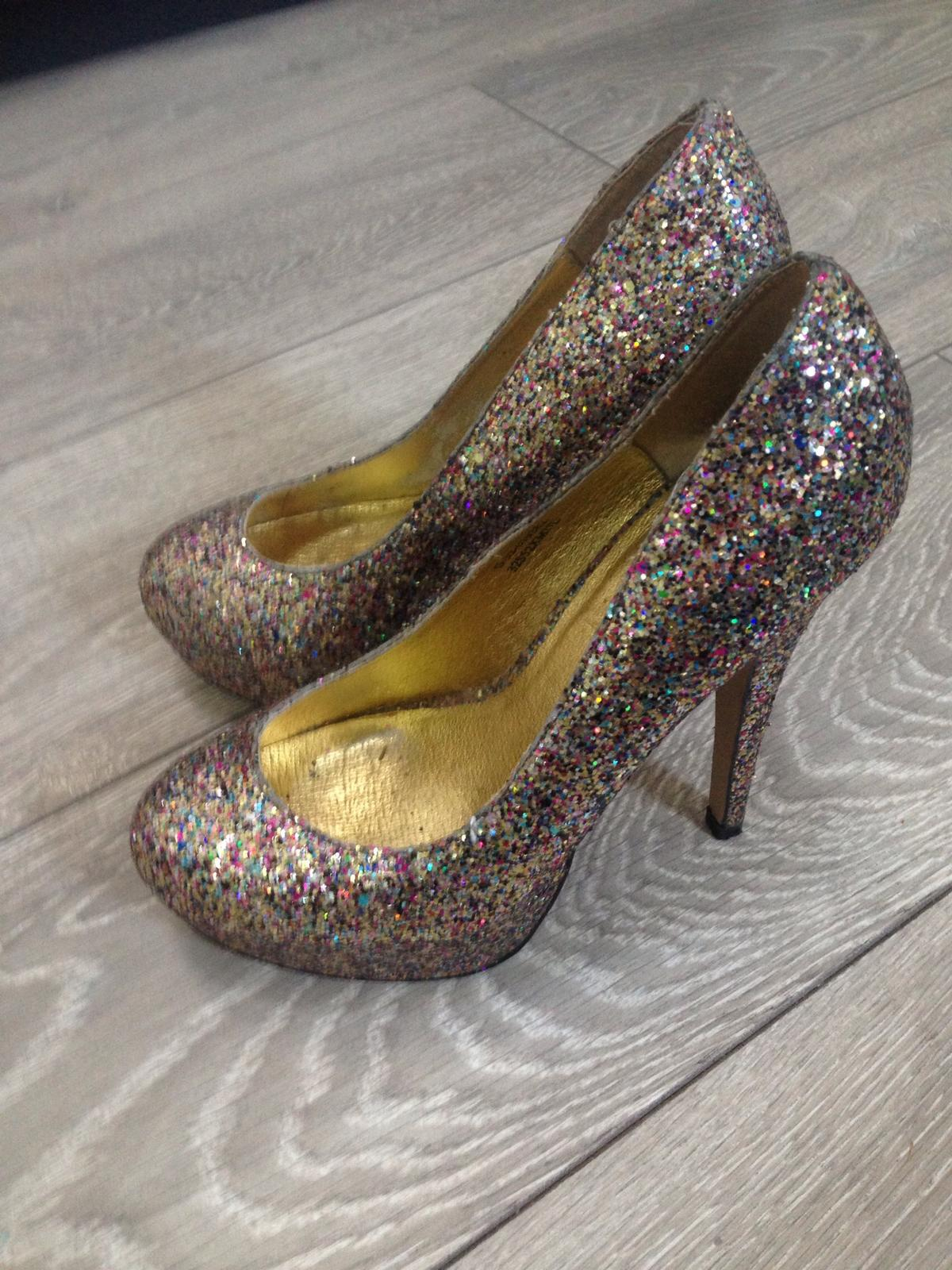 59a5fbf2713a Handmade Glitter Heels Size 5 in RG1 Reading for £5.00 for sale - Shpock