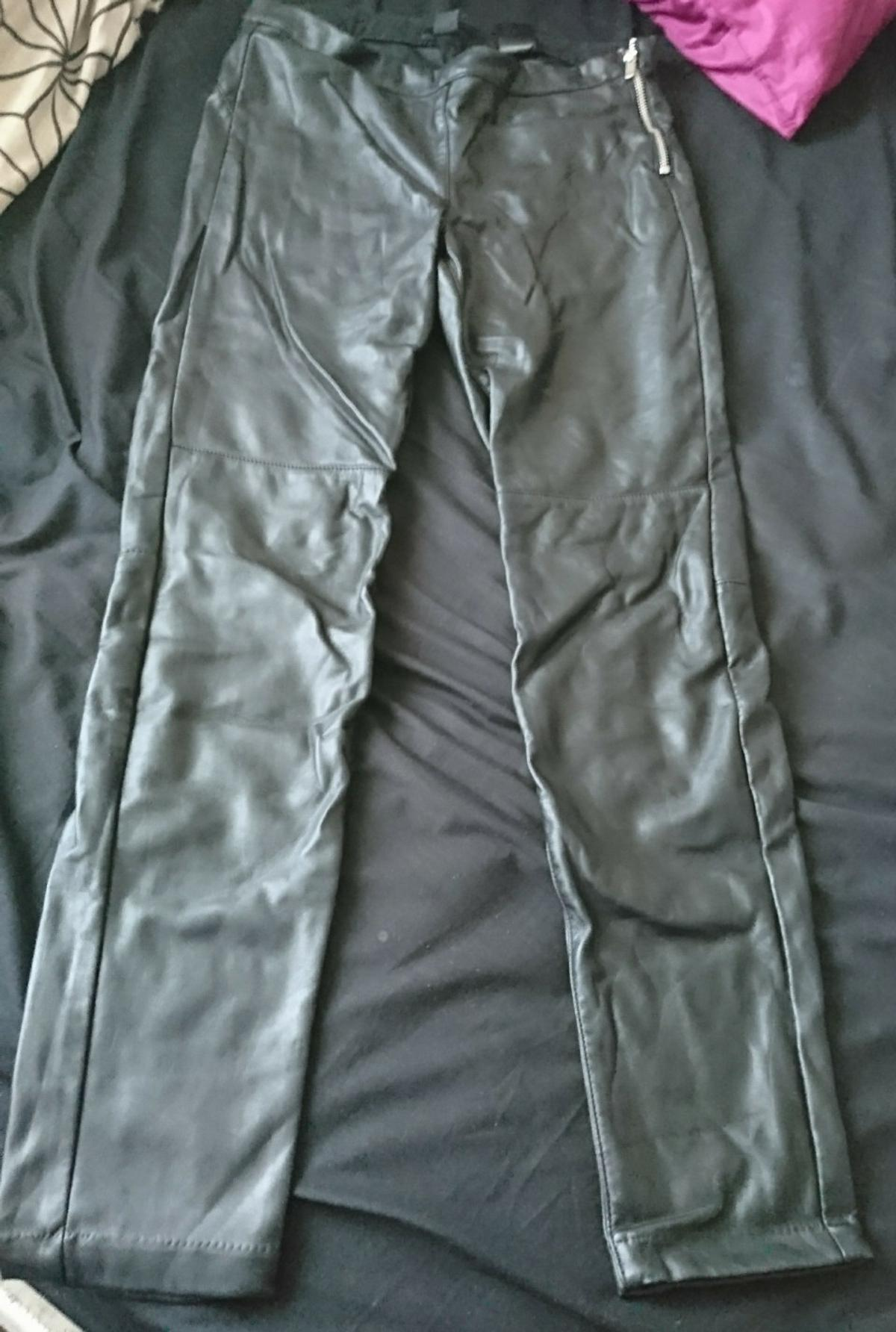 promotion online for sale great fit wet look faux leather trousers