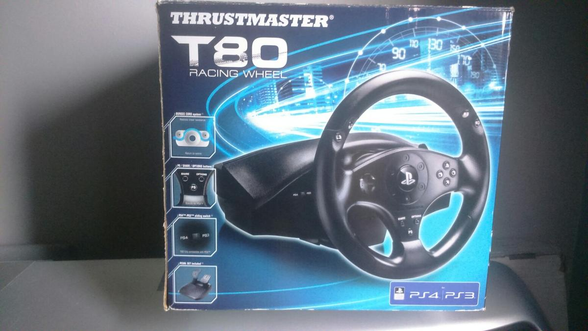 bbc9f6175f1 Thrustmaster t80 steering wheel in DH7 Moor for £30.00 for sale - Shpock