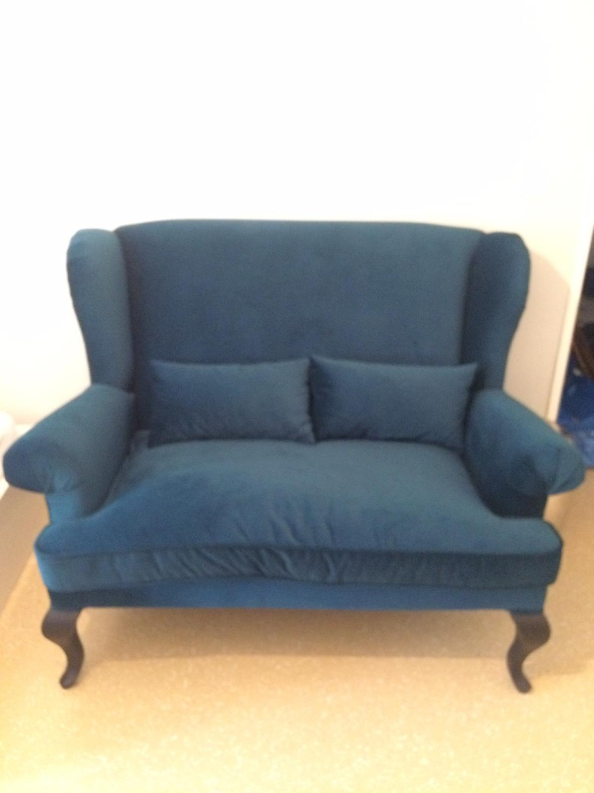 Xxl Sofa Petrol Samt In 80634 Munchen For 500 00 For Sale Shpock