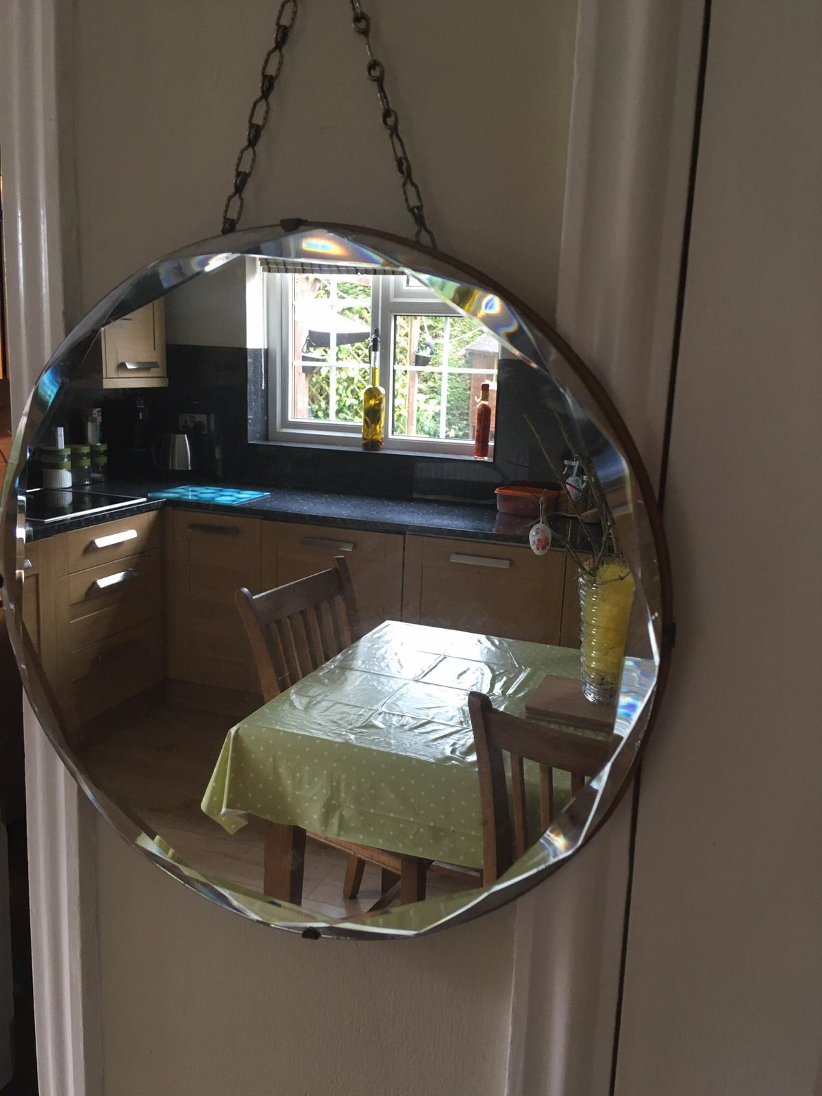 Vintage Art Deco Round Mirror In Dl5 Aycliffe For 10 00 For Sale Shpock