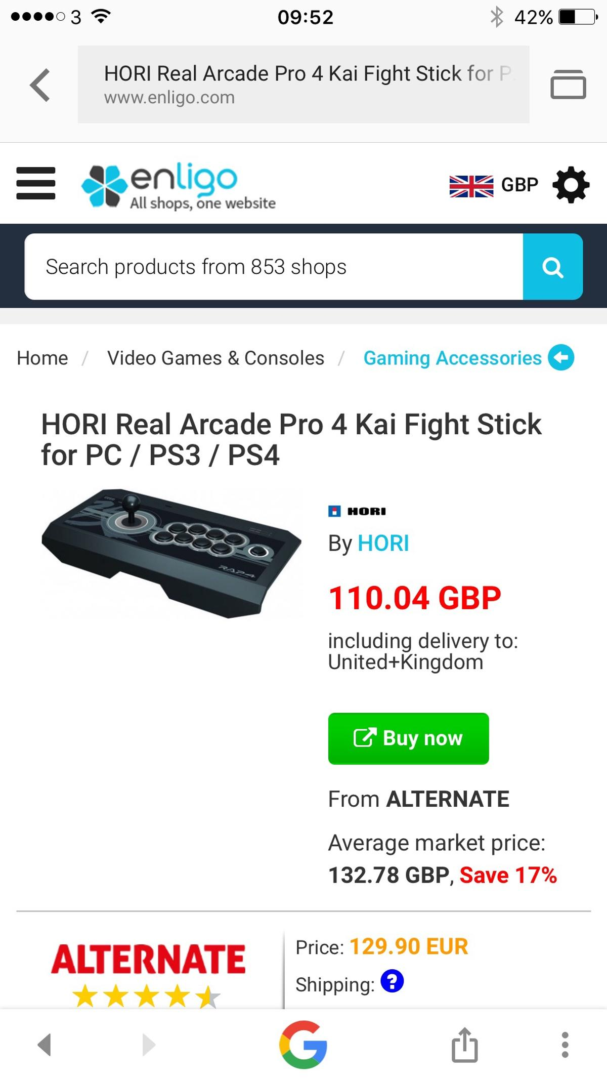 HORI RAP4 FIGHT STICK in IG10 Loughton for £70 00 for sale