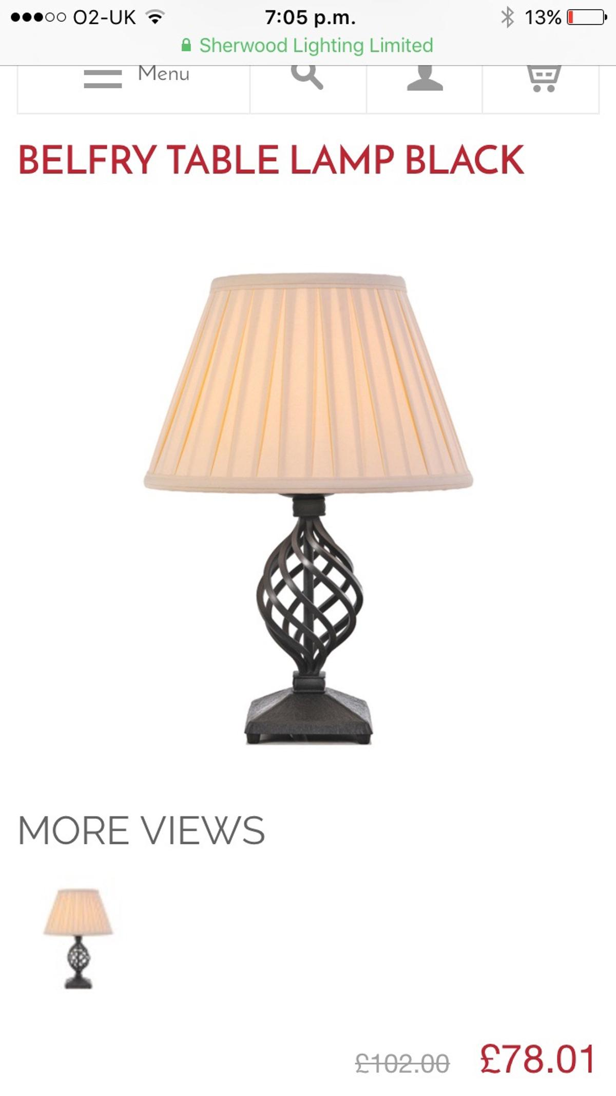 Solid Wrought Iron Lamp Base In M27 Swinton For 15 00 For Sale Shpock