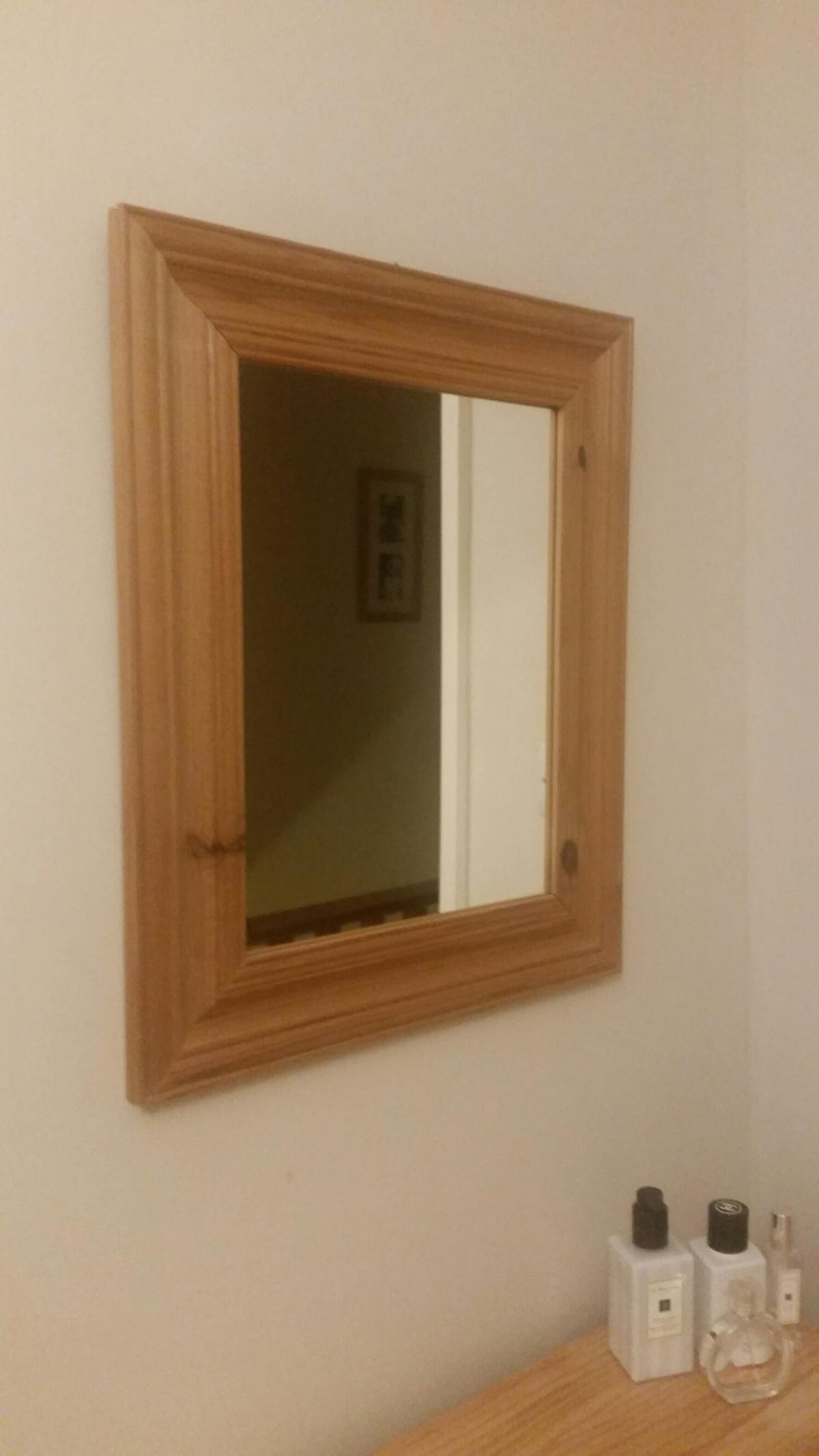 Small Wooden Framed Mirror