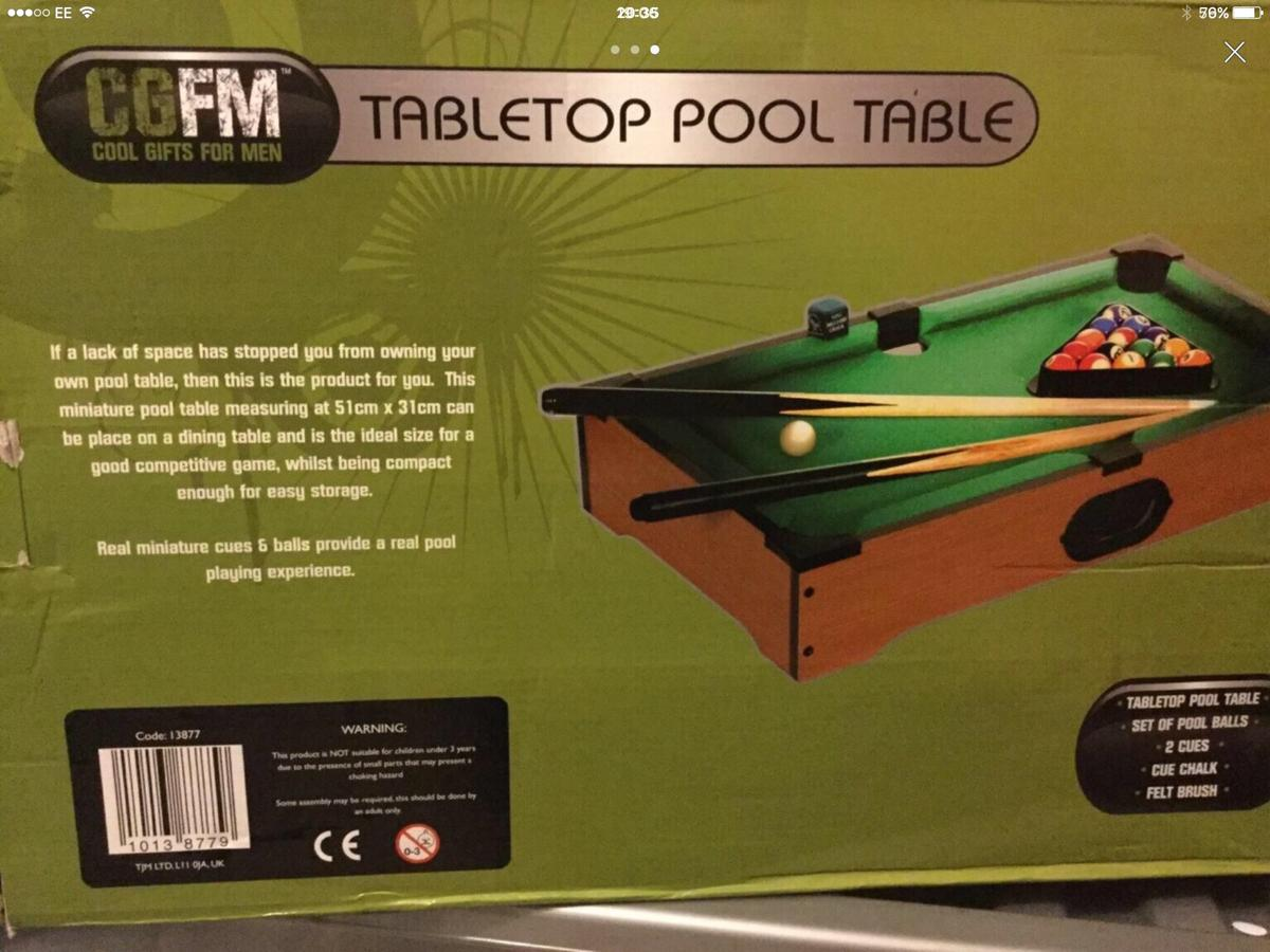 Wooden Table Top Pool Table