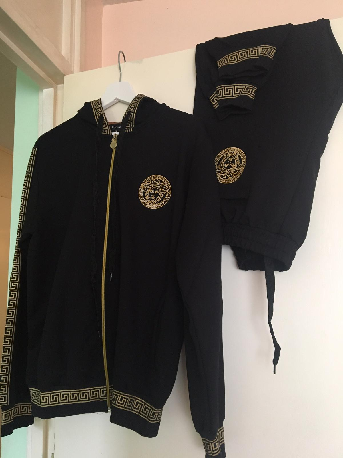 NEW VERSACE TRACKSUIT BLACK LARGE