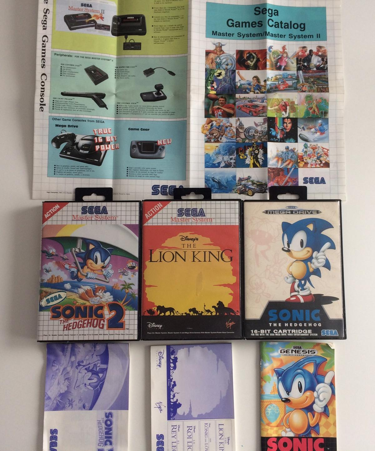 Bundle Of retro Sega games