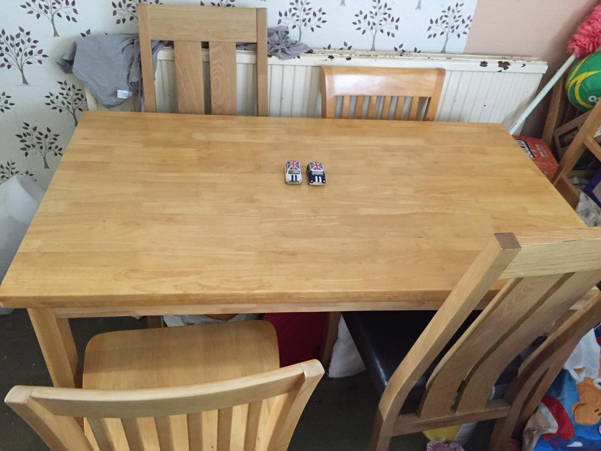 Solid Pine Kitchen Table 4 Matching Chairs In ME15 Maidstone Fur