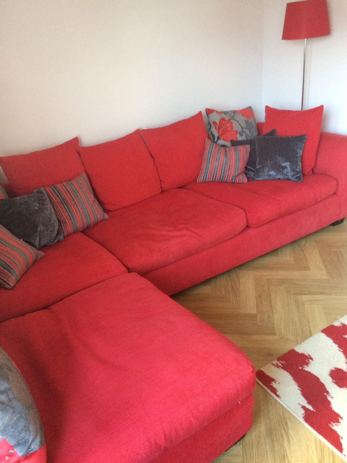 Red corner sofa, curtains and rug. in AB41 Tarves for £250.00 for ...