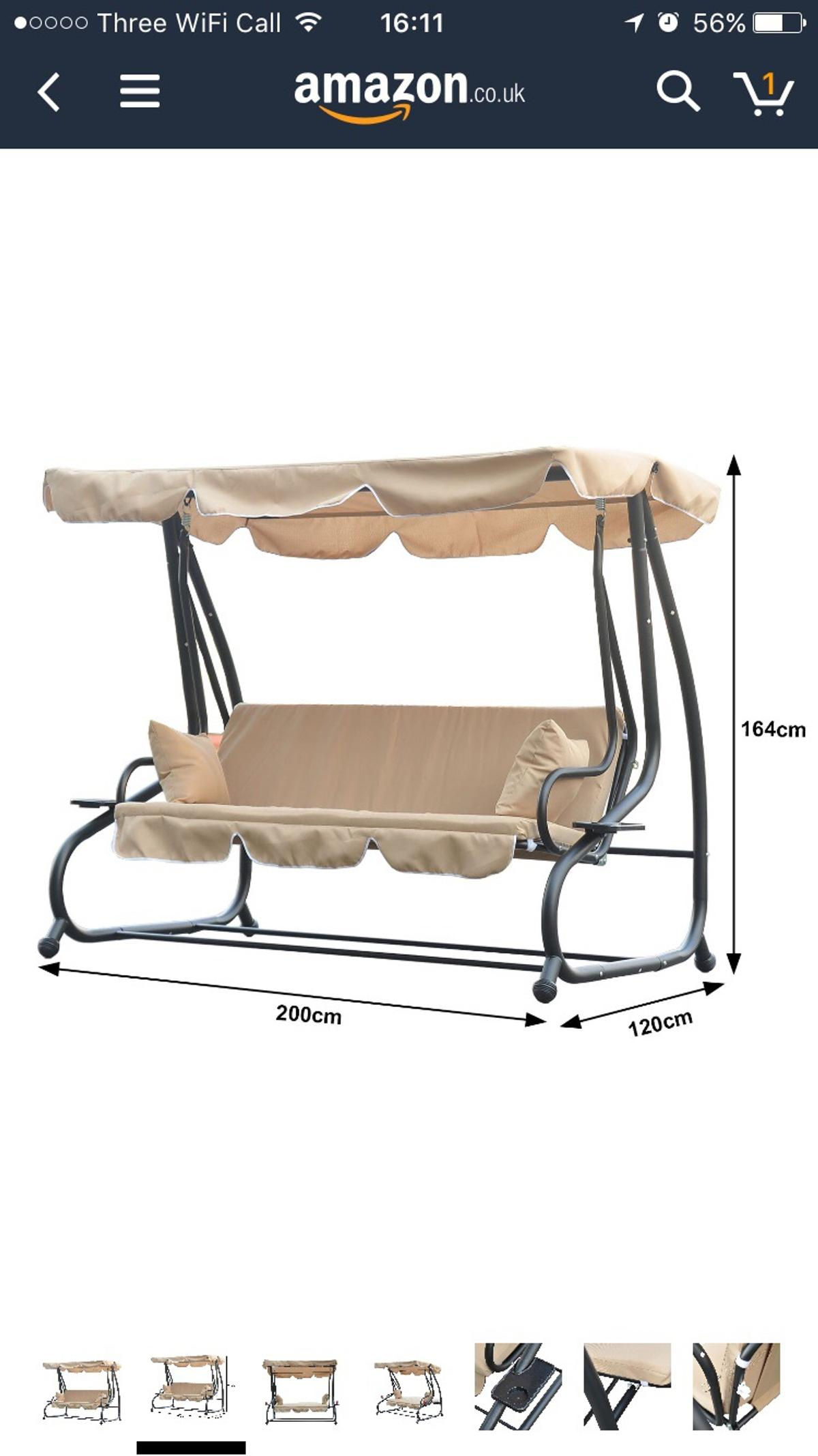 Garden 3 Seater Swing Chair Bed Hammock In Kt10 Claygate For
