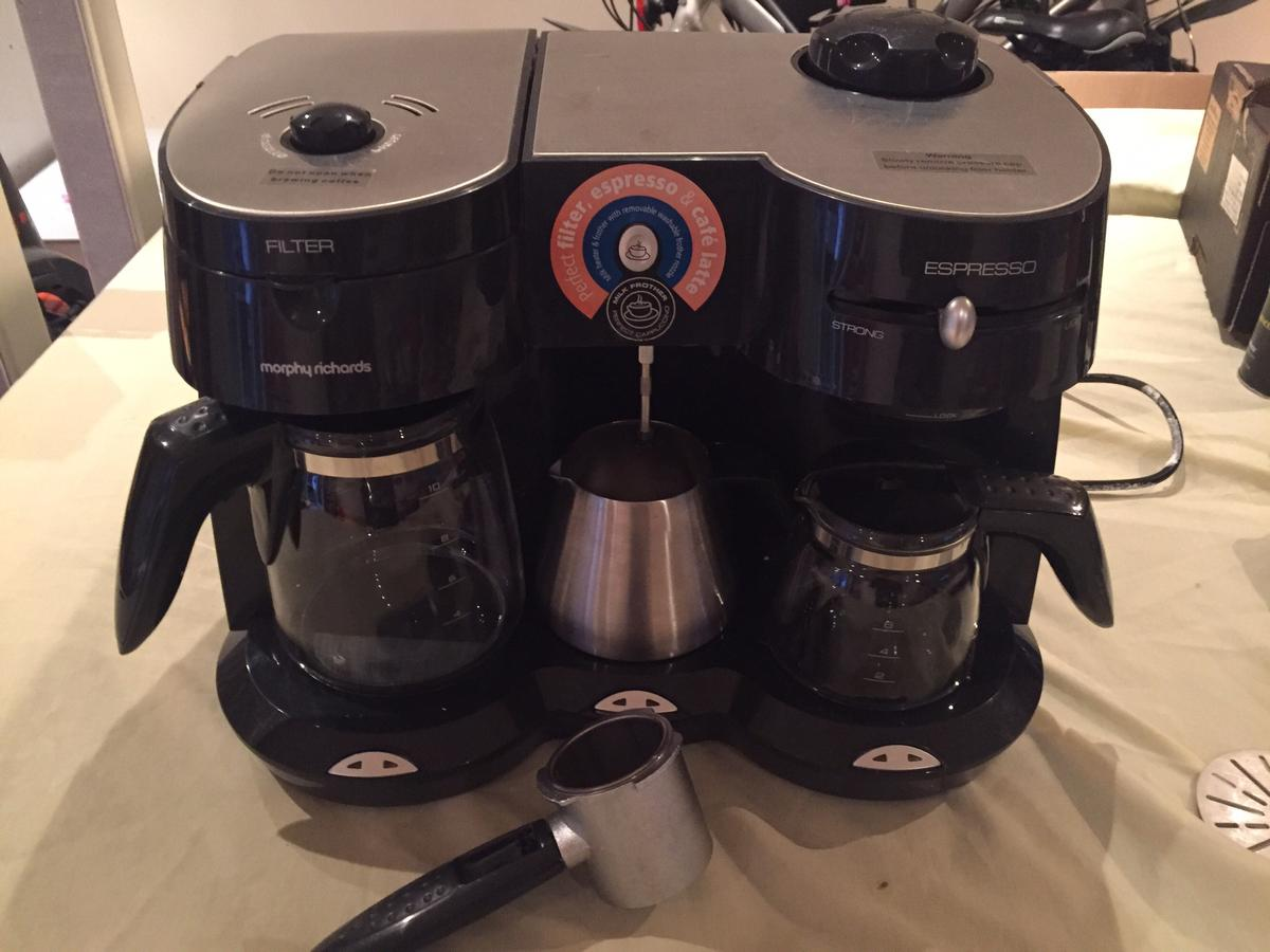 Morphy Richards Coffee Maker And Milk Frother In Cw11