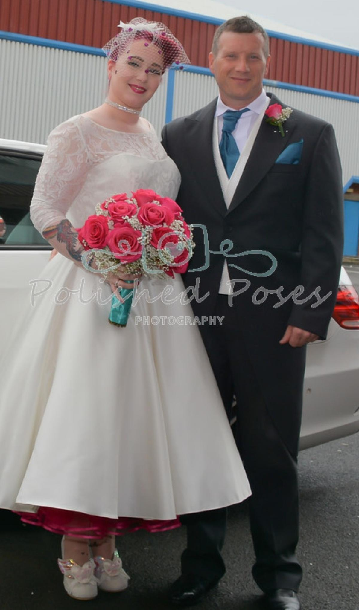 Ivory And Pink Tea Length Wedding Dress In Calderdale For 200 00