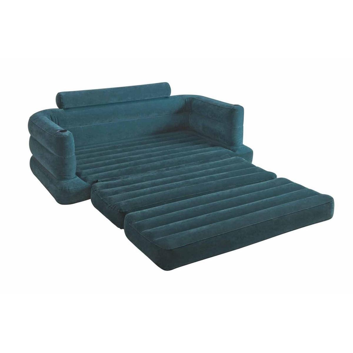 Surprising Intel Double Pull Out Sofa Air Bed Blue Machost Co Dining Chair Design Ideas Machostcouk