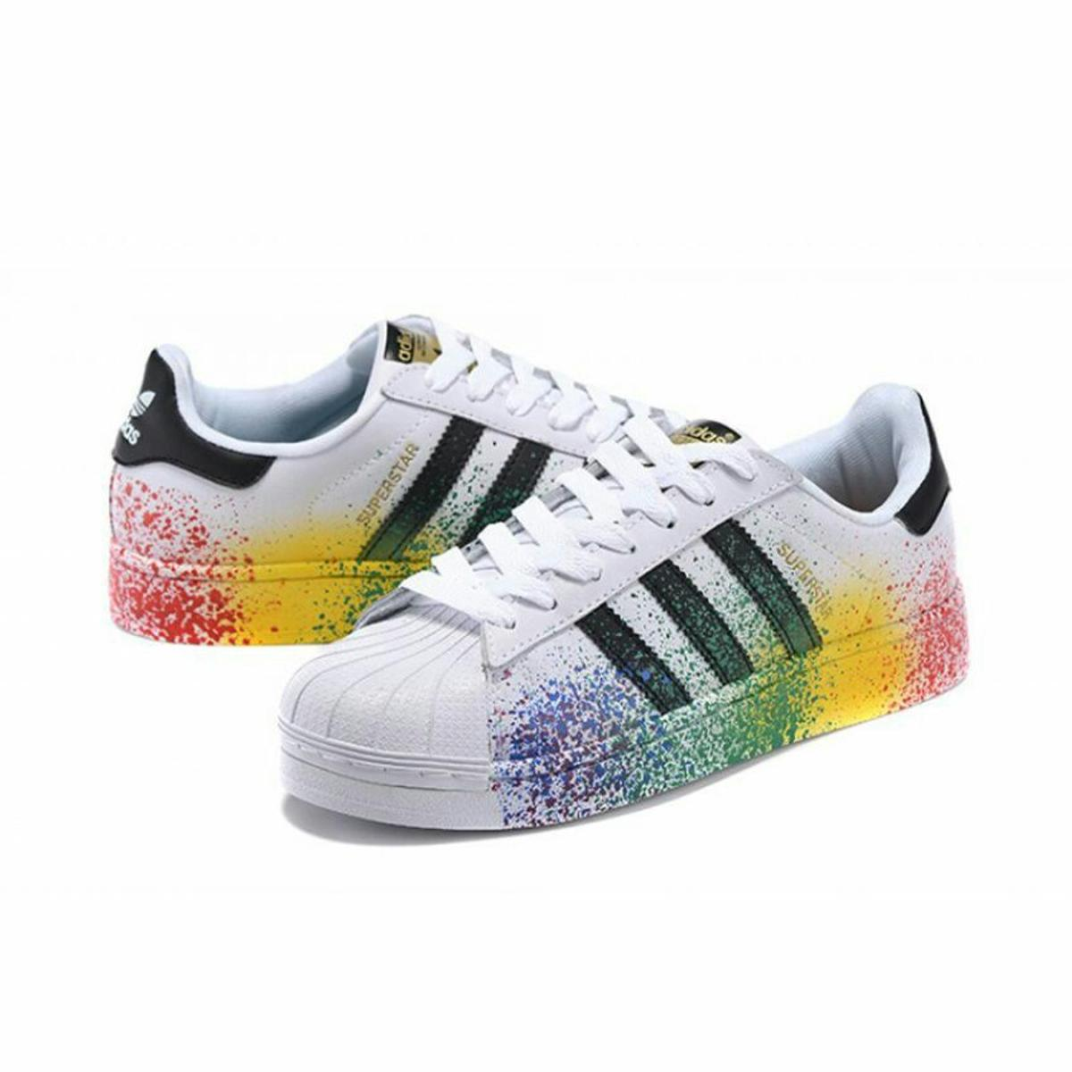 special for shoe casual shoes the sale of shoes Adidas superstars paint splash edition