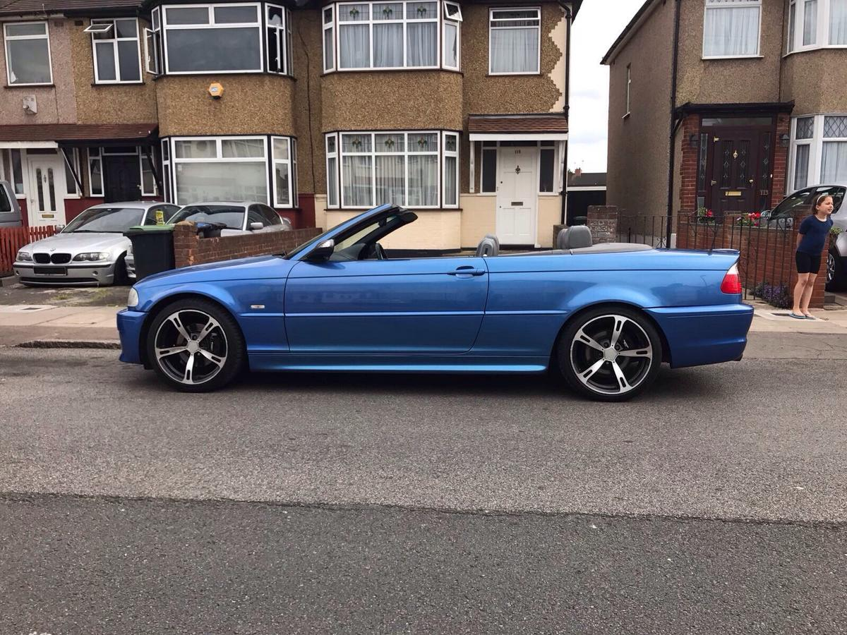 Bmw 325ci convertible m3 blue in N18 London for £2,100 00