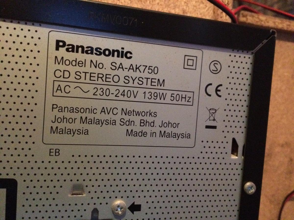 Panasonic SA-AK7500 hi fi with subwoofer in SS9 Southend-on-Sea for
