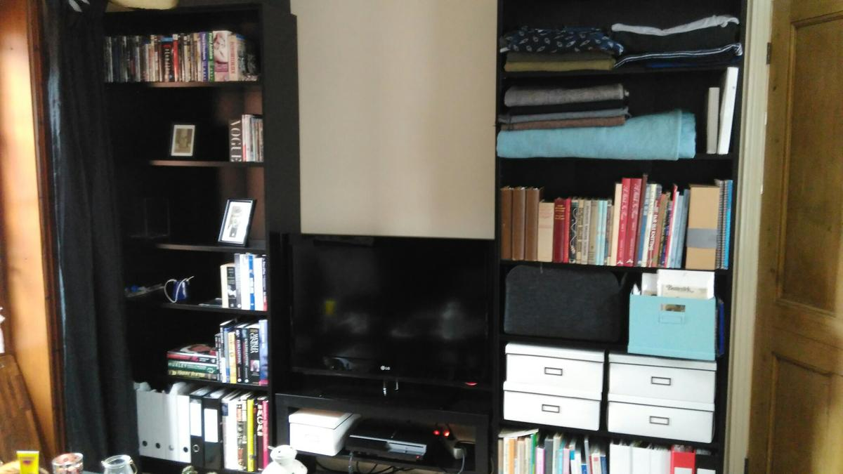 2 Black Ikea Billy Bookcases