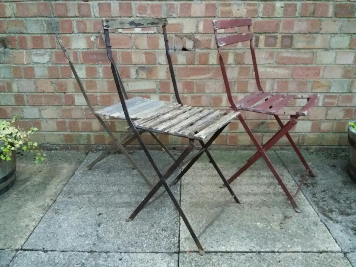 Rare Old Garden Folding Chairs in North West Leicestershire