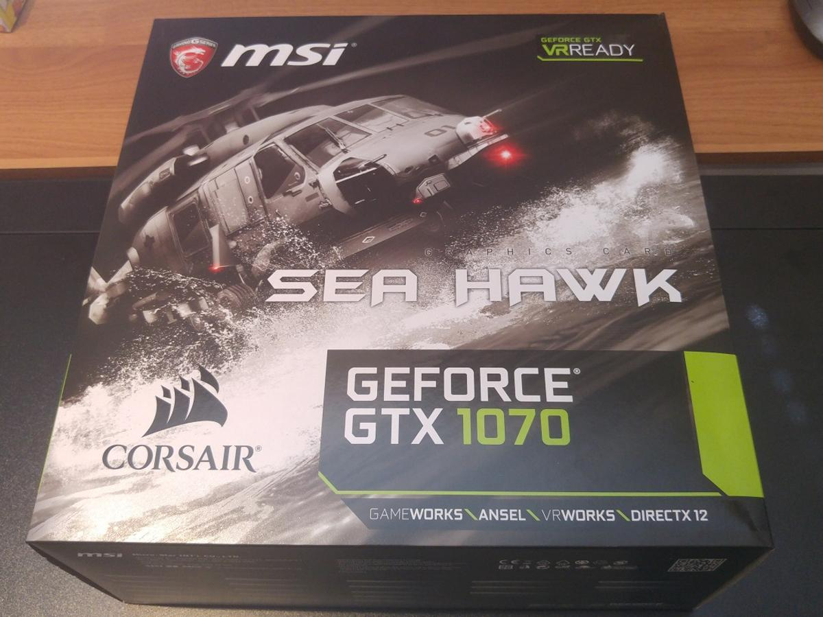 MSI GEFORCE GTX 1070 SEA HAWK - ALMOST NEW