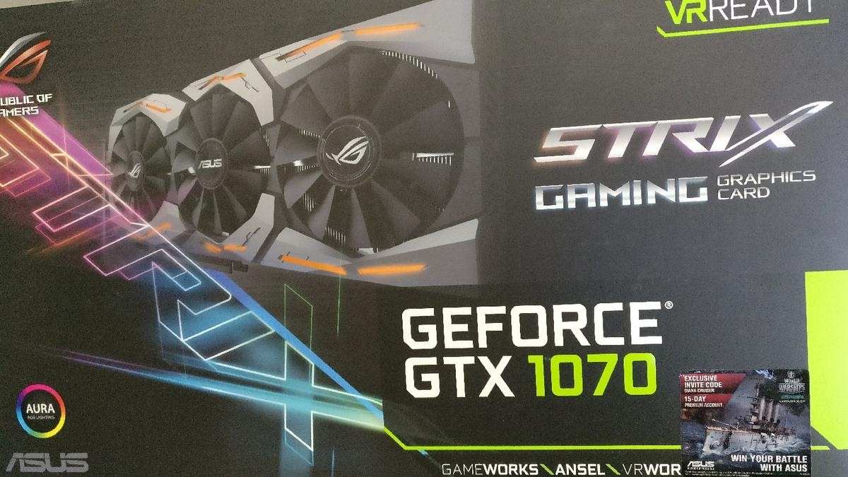 Asus STRIX GTX 1070 OC edition (used) in BH17 Poole for