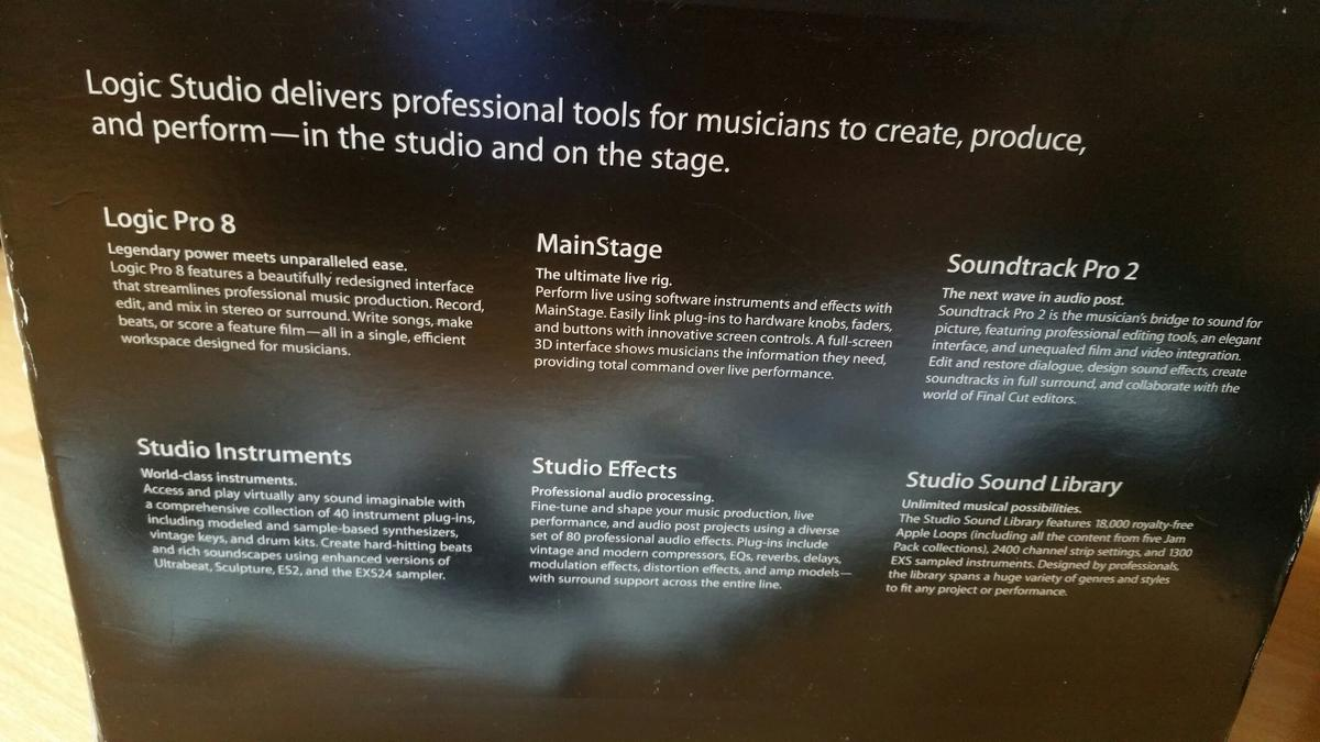 Apple Logic Studio Pro 8 in W6 London for £35 00 for sale - Shpock