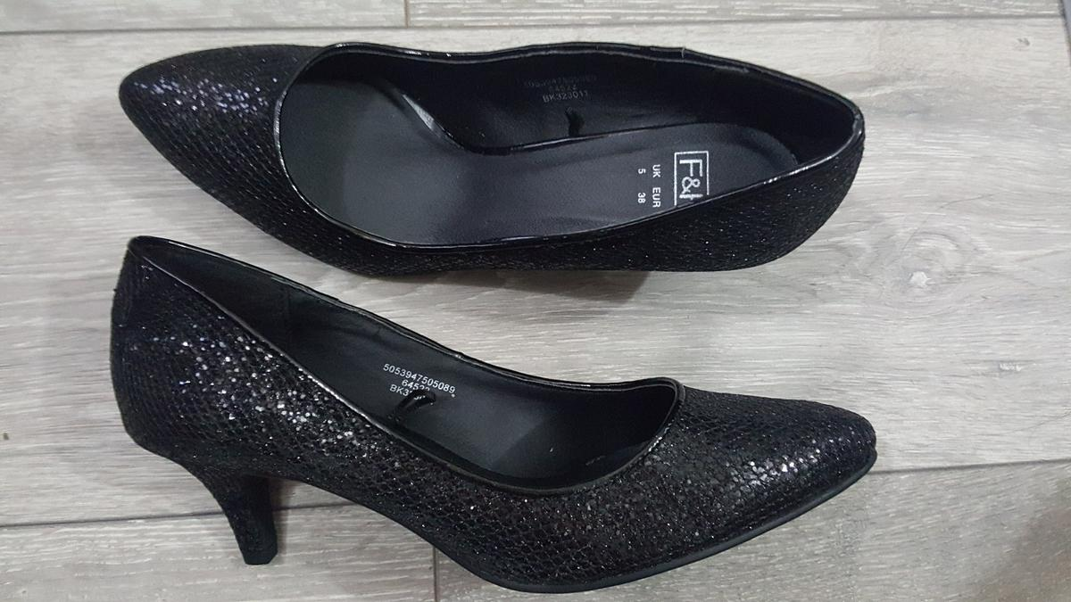 100% top quality low price best wholesaler Black glitter kitten heel shoes size 5 in UB3 Hayes for £6.00 for ...