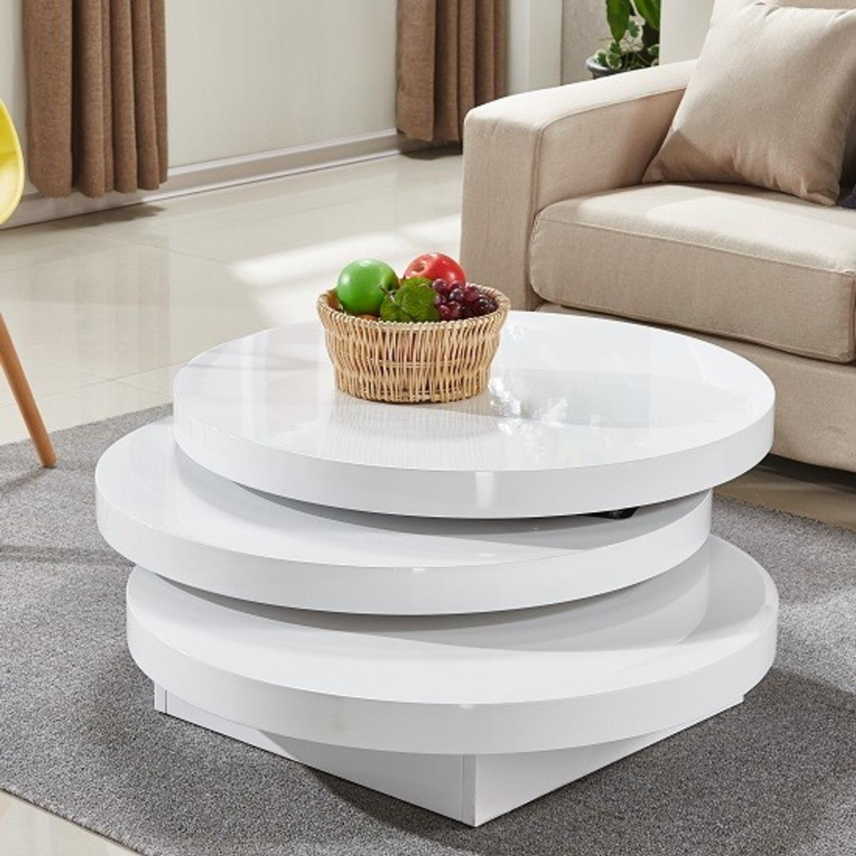 White Rotating Coffee Table Round In Nw3 London For 60 00 For Sale Shpock