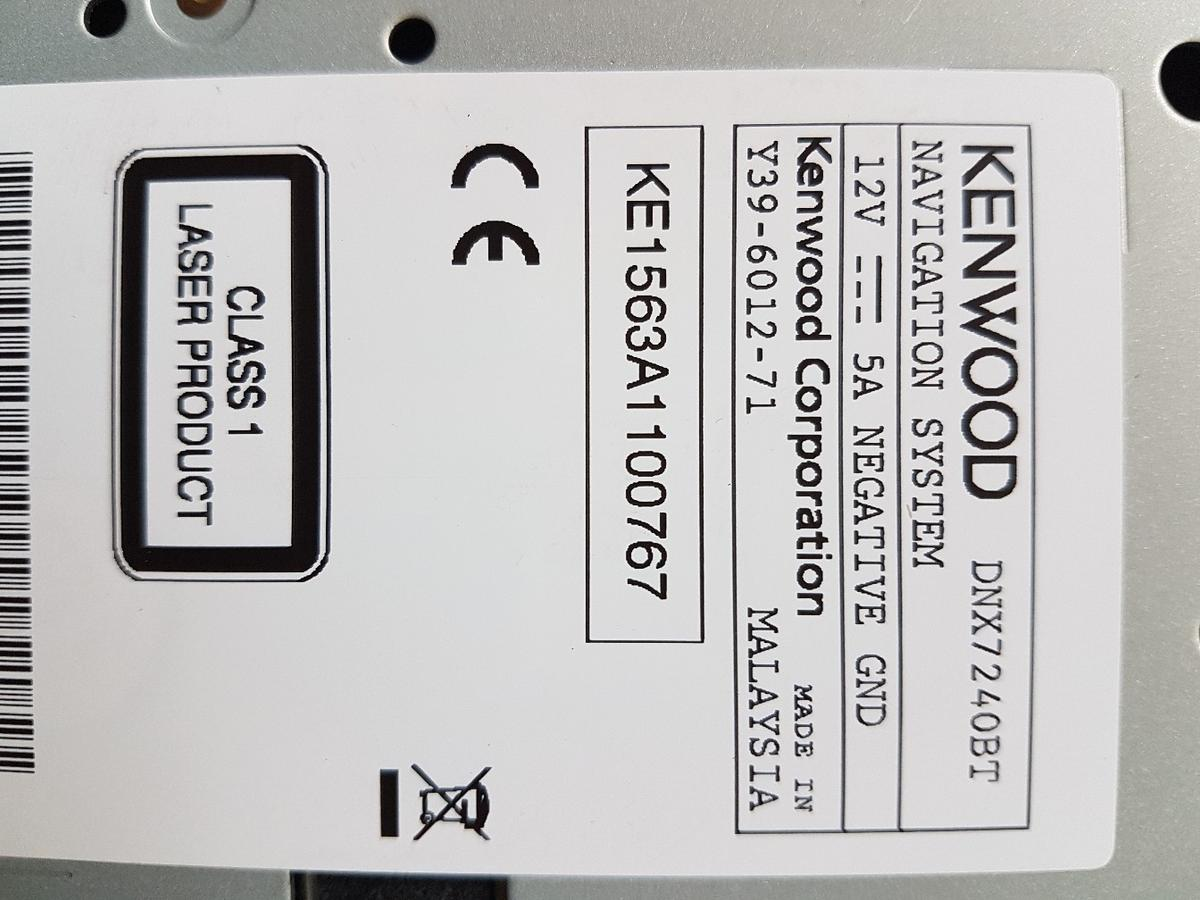 Kenwood DNX7240BT NAVIGATION Stereo in ST10 Cheadle for £120 00 for