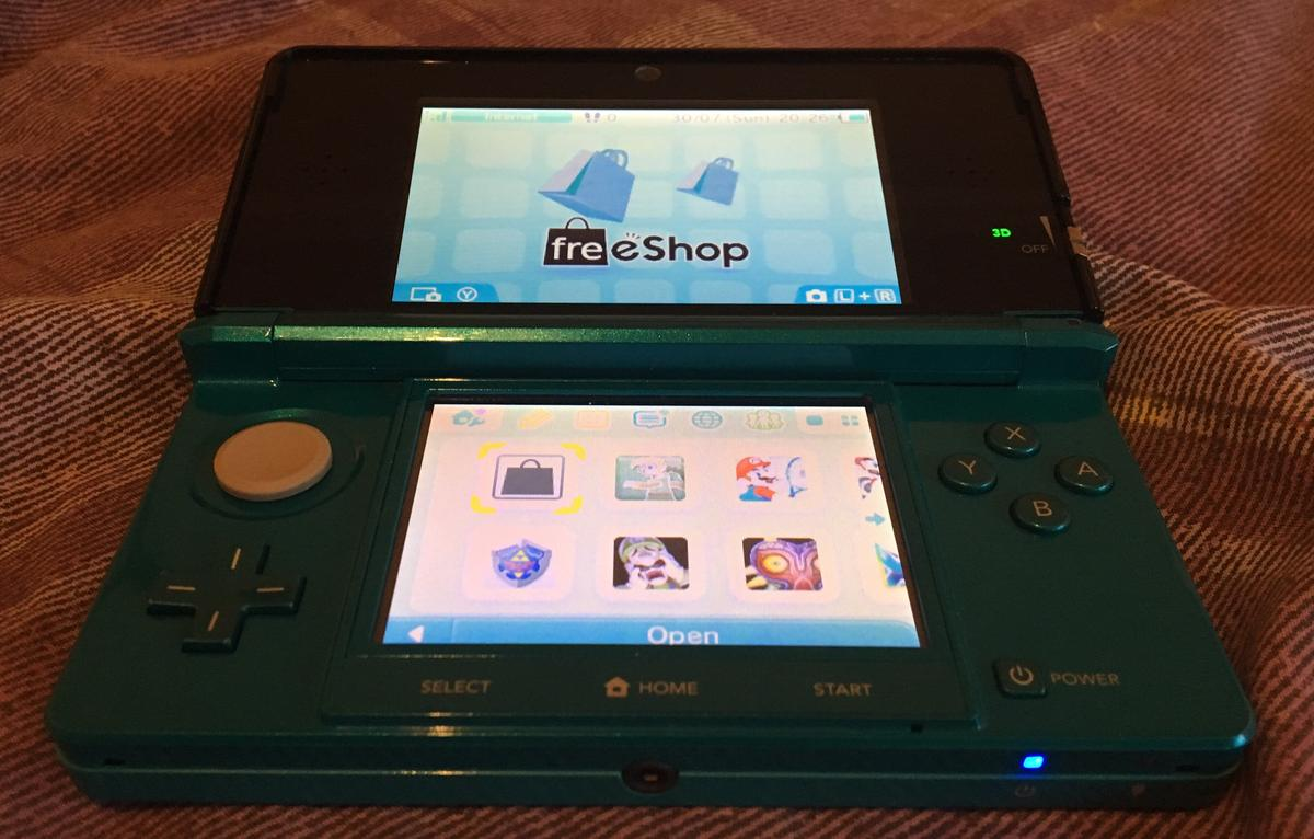 3ds CFW with Freeshop  Unlimited free games!