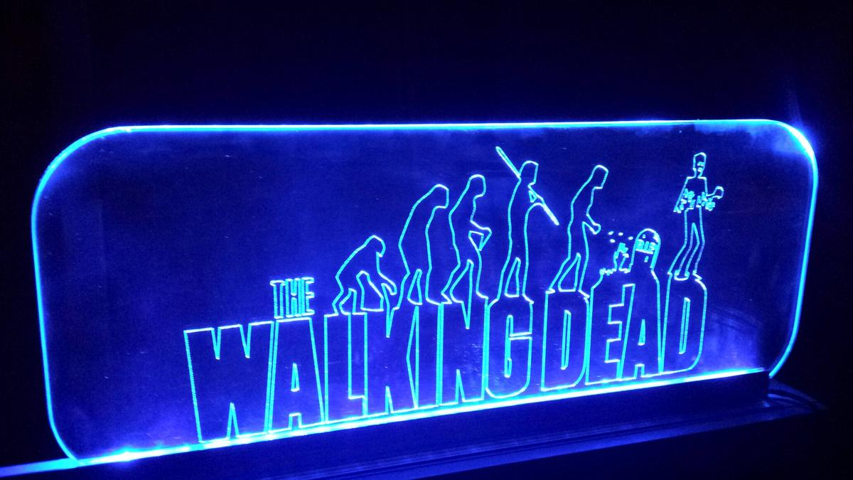 The walking dead led leuchtschild