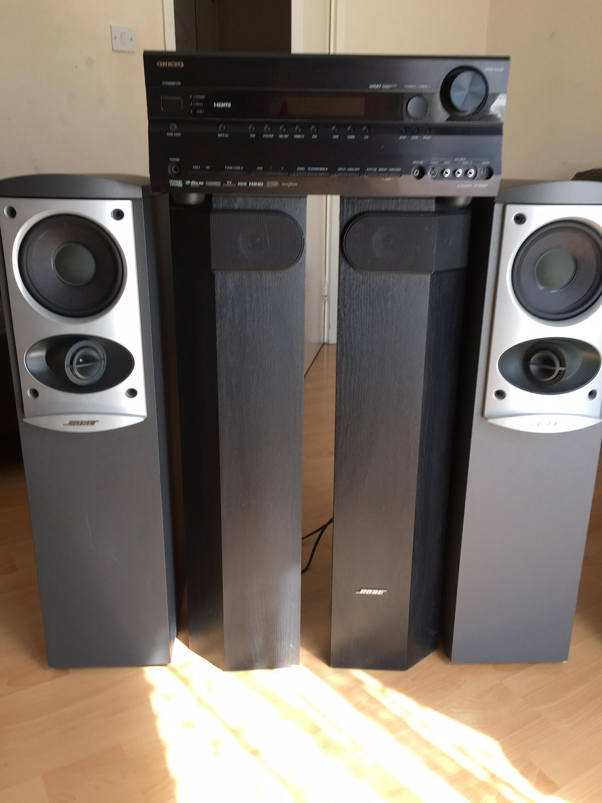 BOSE 601 & 501 SPEAKERS AND ONKYO RECEIVER in NN3