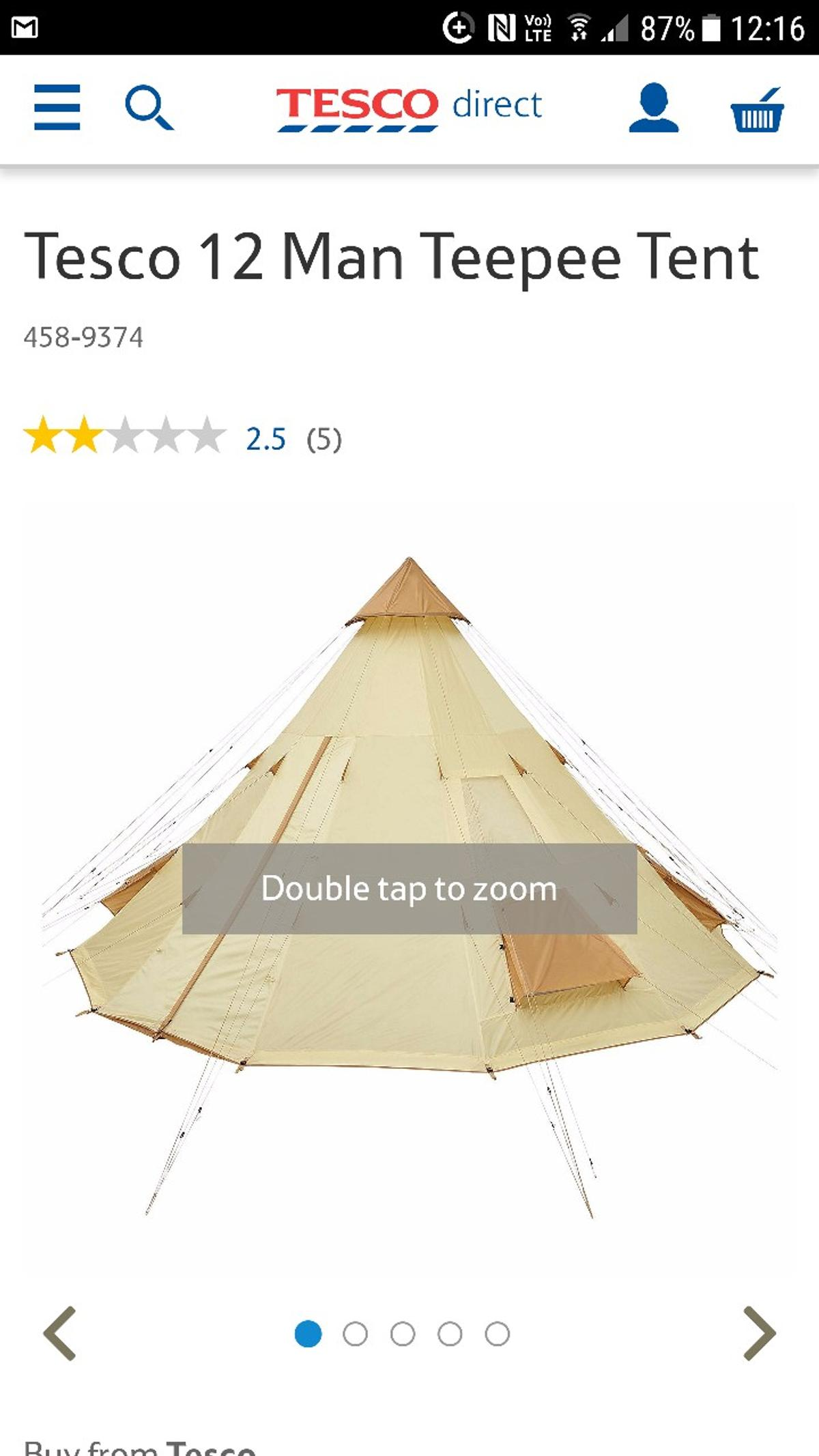 separation shoes 66031 5f0d1 12 man teepee tent new never used or opened in MK5 End für ...