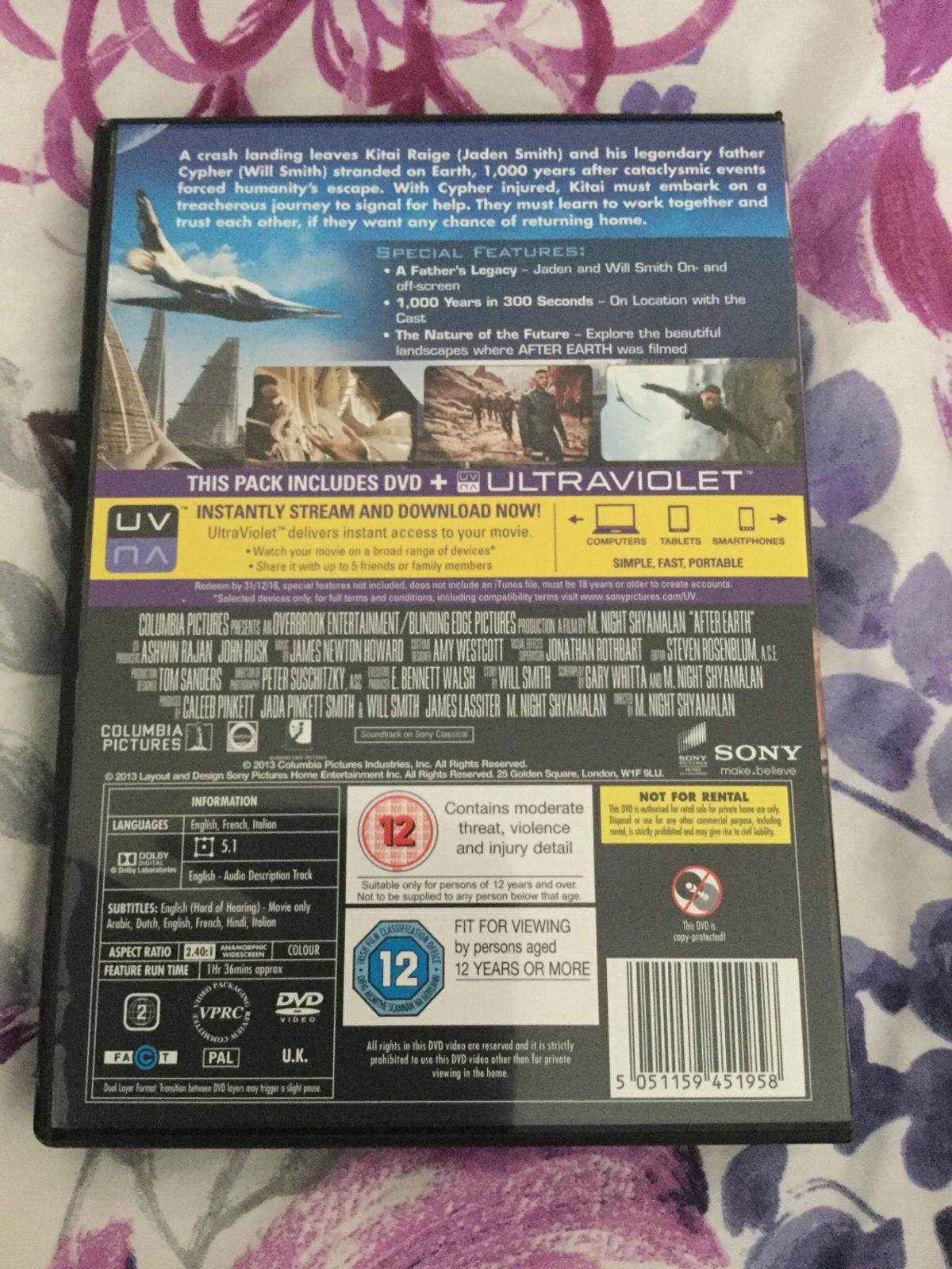 DVD - After Earth - Will & Jaden Smith