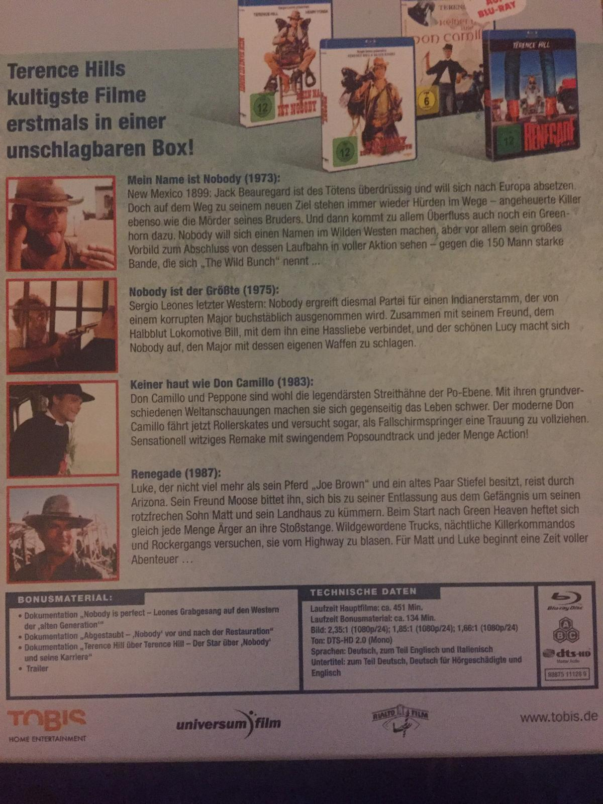 Terence Hill Box Blue Ray In 2020 Raschala For 2000 For Sale Shpock