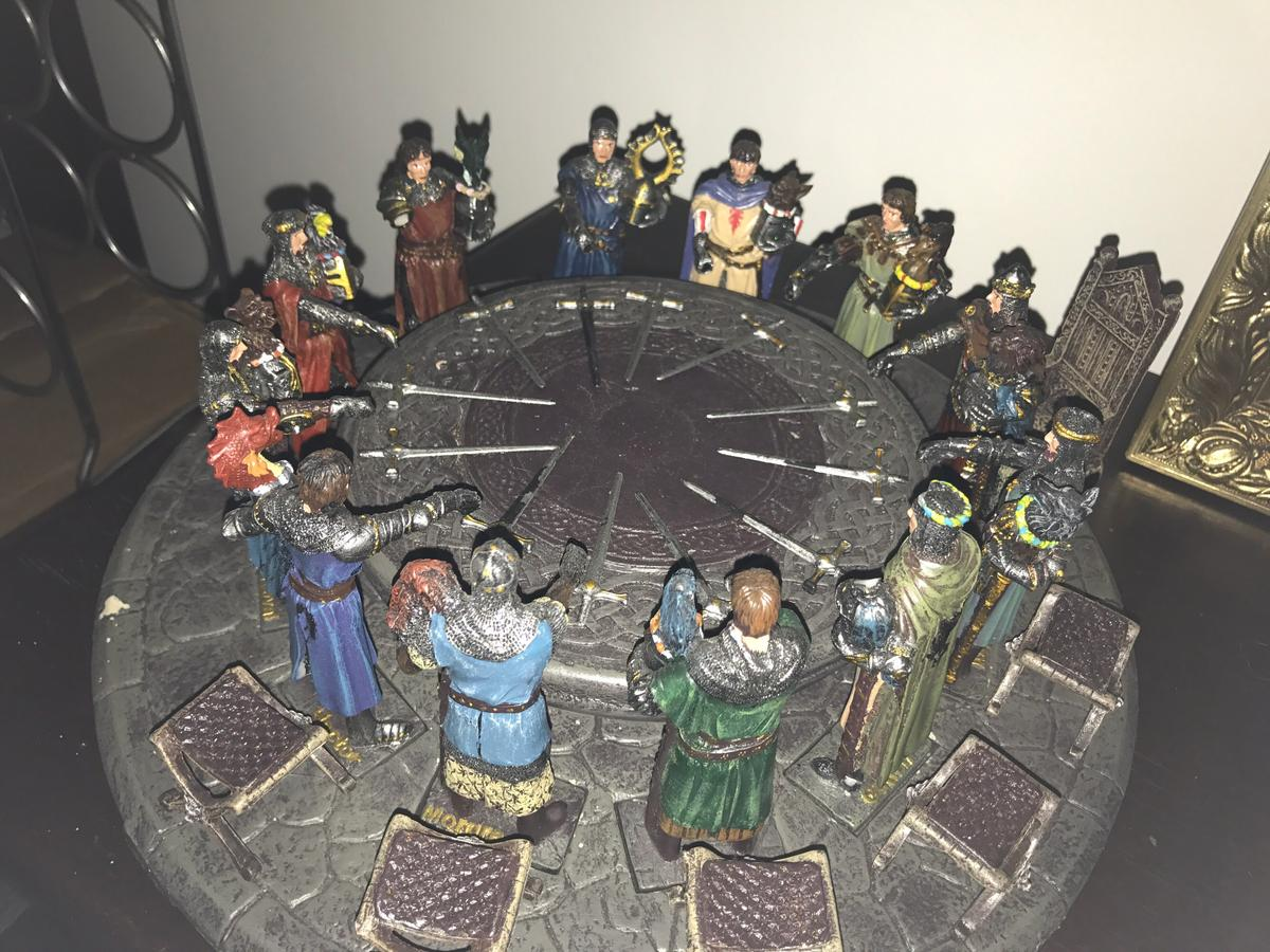 Knights Of The Round Table Sword Names.King Arthur S Knights Diorama In Ng3 Nottingham For 100 00 For Sale