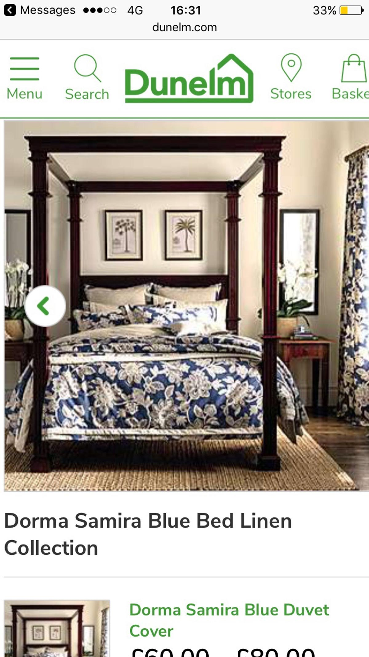 Dorma Samira Blue Bed Linen Collection In Ng19 Woodhouse For 70 00 For Sale Shpock