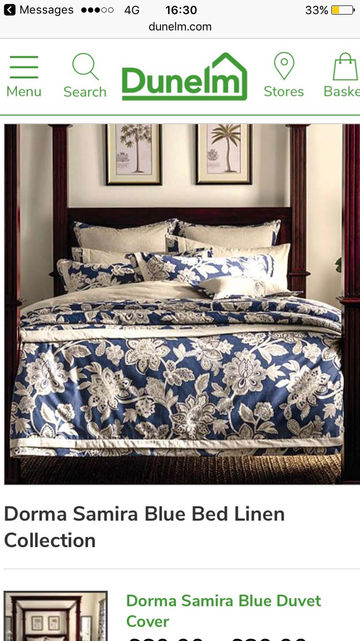 Picture of: Dorma Samira Blue Bed Linen Collection In Ng19 Woodhouse For 70 00 For Sale Shpock