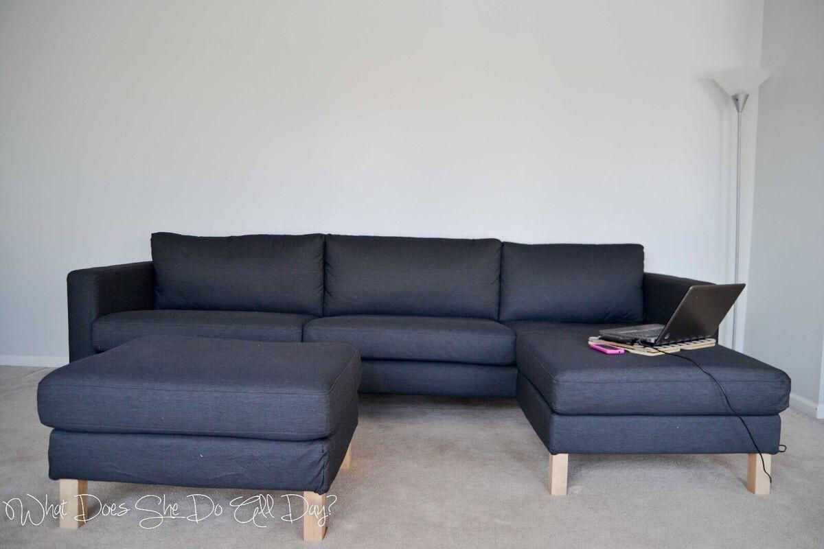 Ikea Karlstad Sofa With Chaise Footstool In Sw16 London