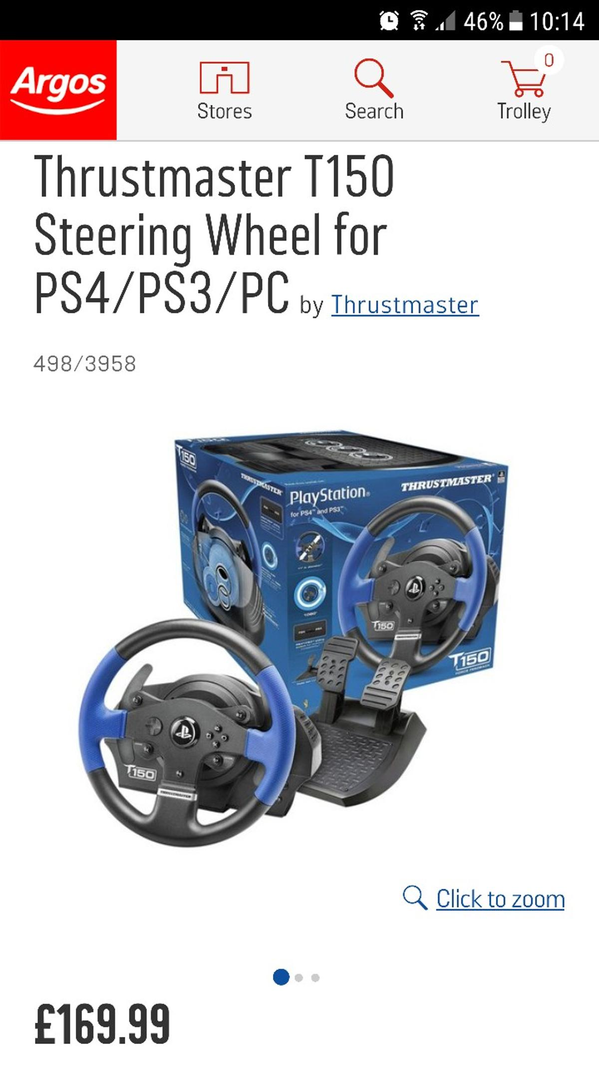 Thrustmaster T150 PS3/PS4/PC Wheel & Pedals