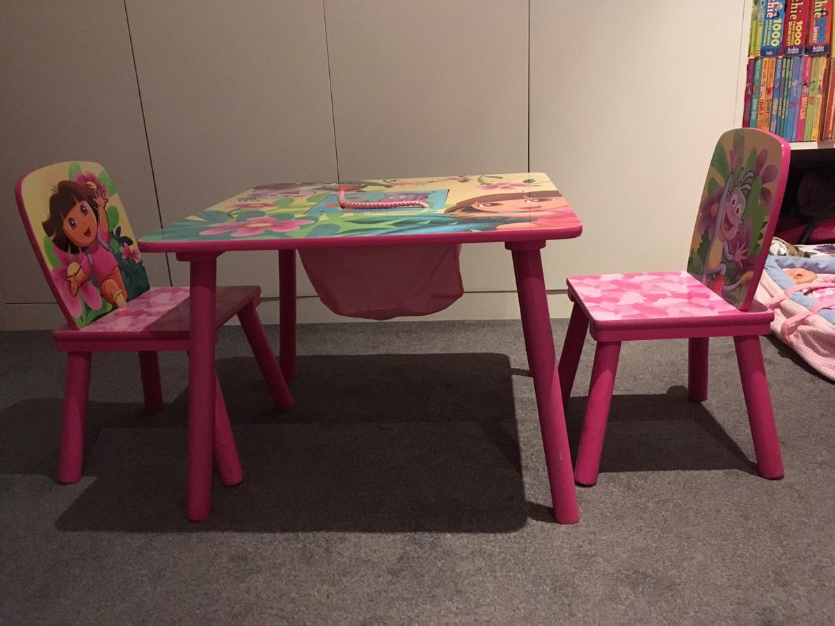 Swell Dora The Explorer Kid Table And Two Chairs In N10 London For Download Free Architecture Designs Terchretrmadebymaigaardcom